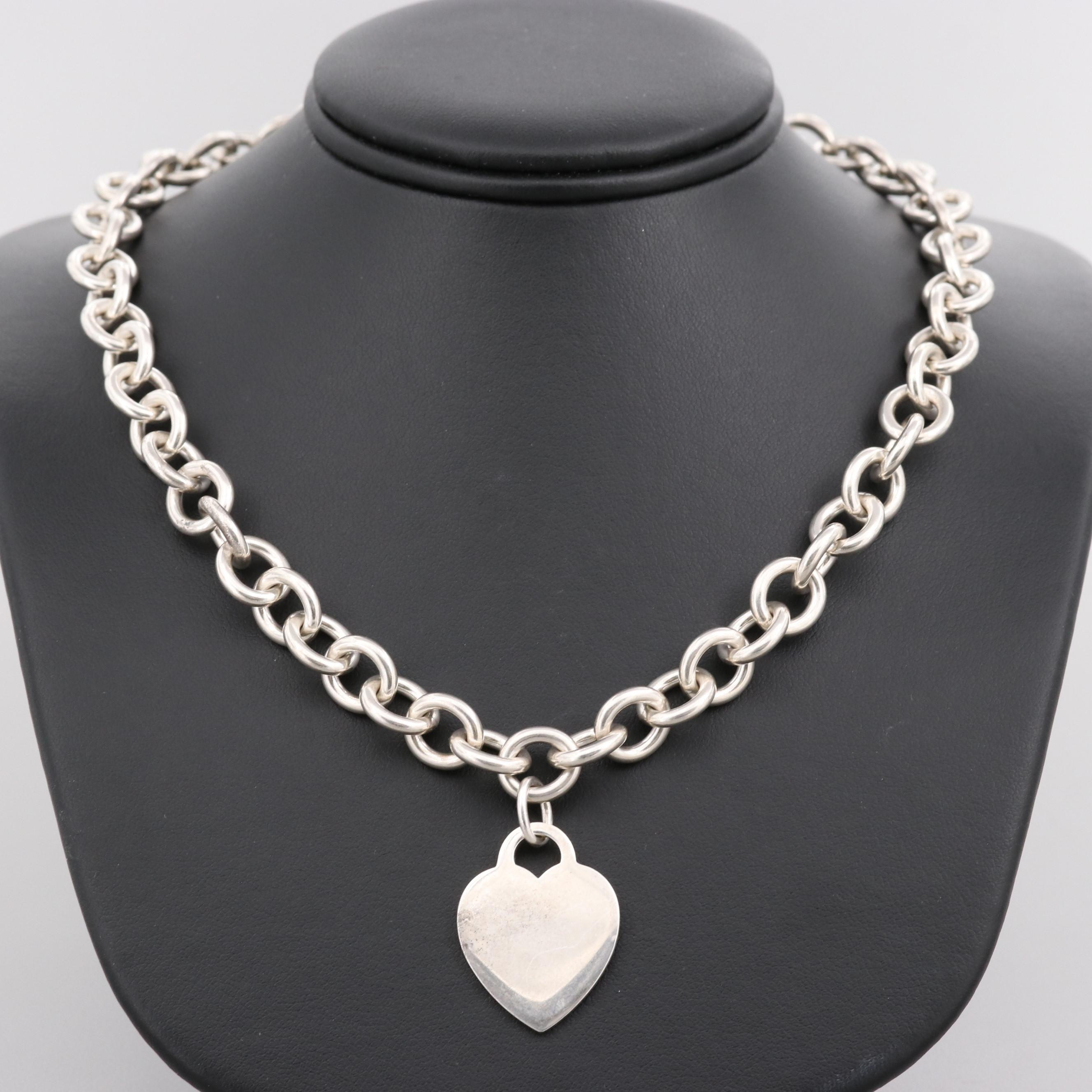 Tiffany & Co. Sterling Silver Heart Tag Necklace
