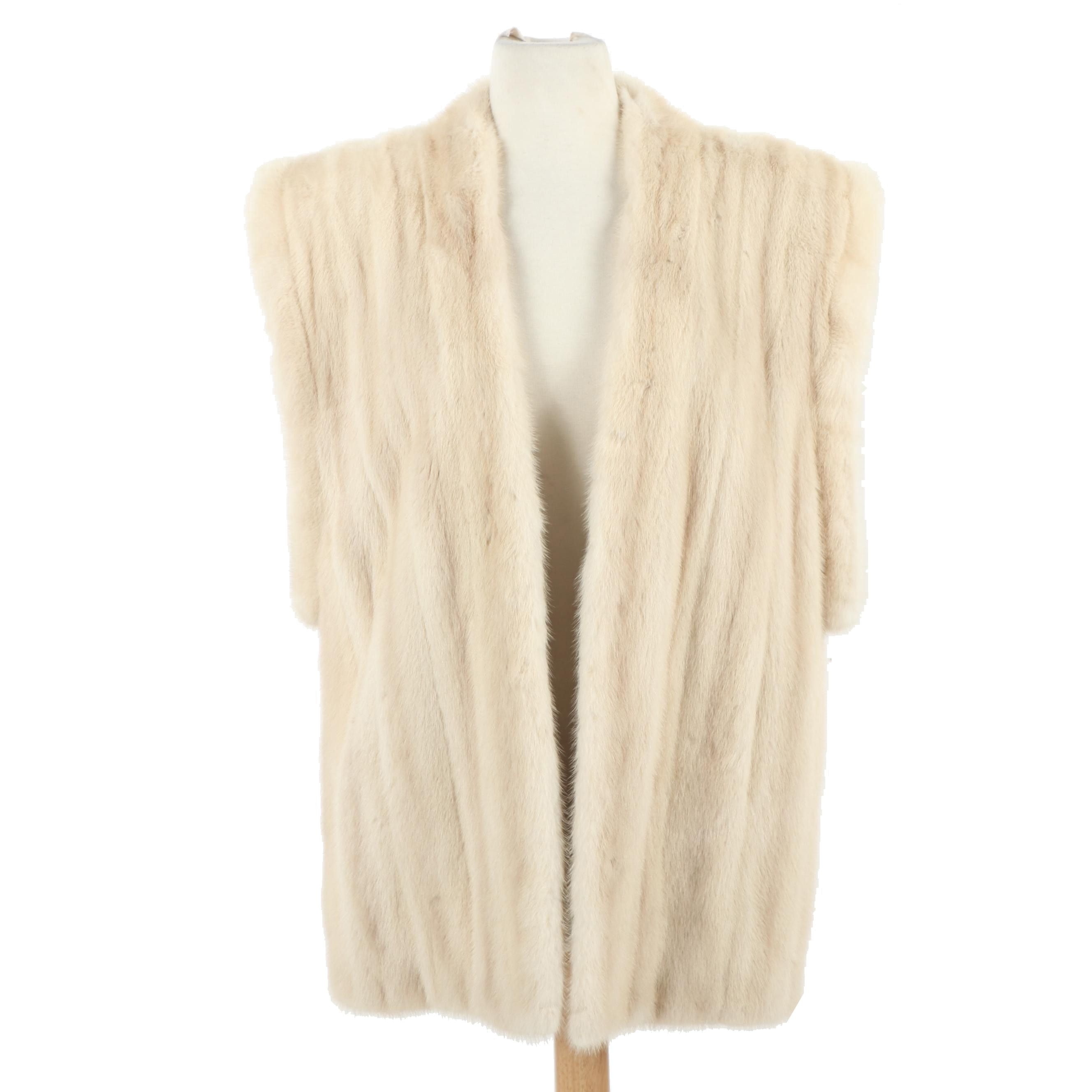 Women's North Dallas Furriers Tourmaline Mink Fur Vest