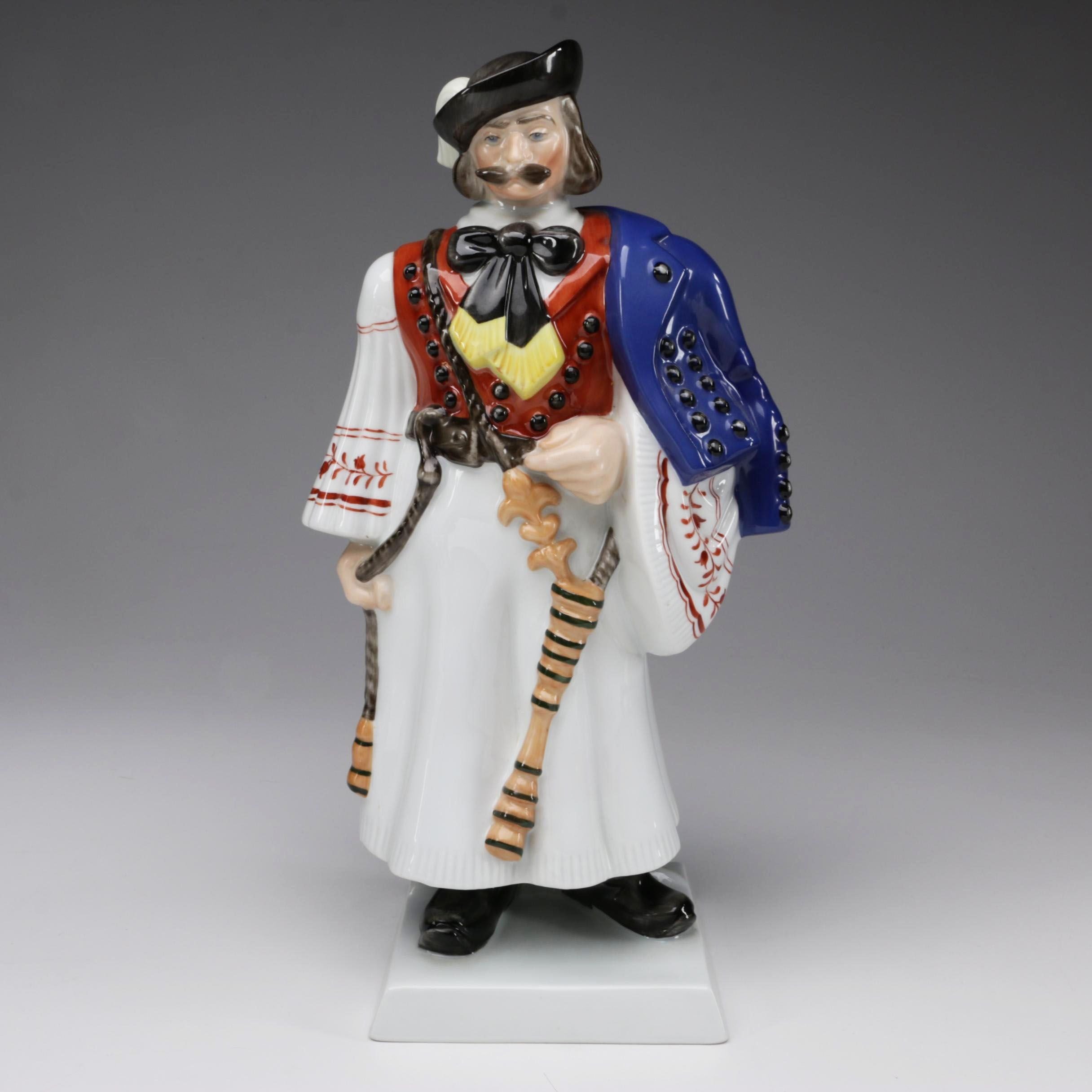 "Herend ""Hungarian Man"" Porcelain Figurine"