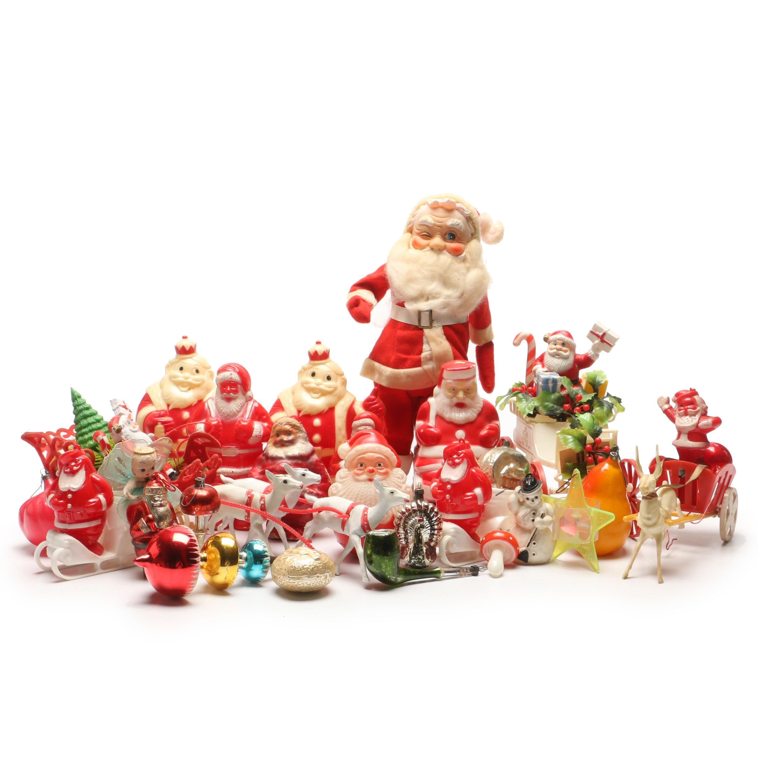 Grouping of Vintage Christmas Decor
