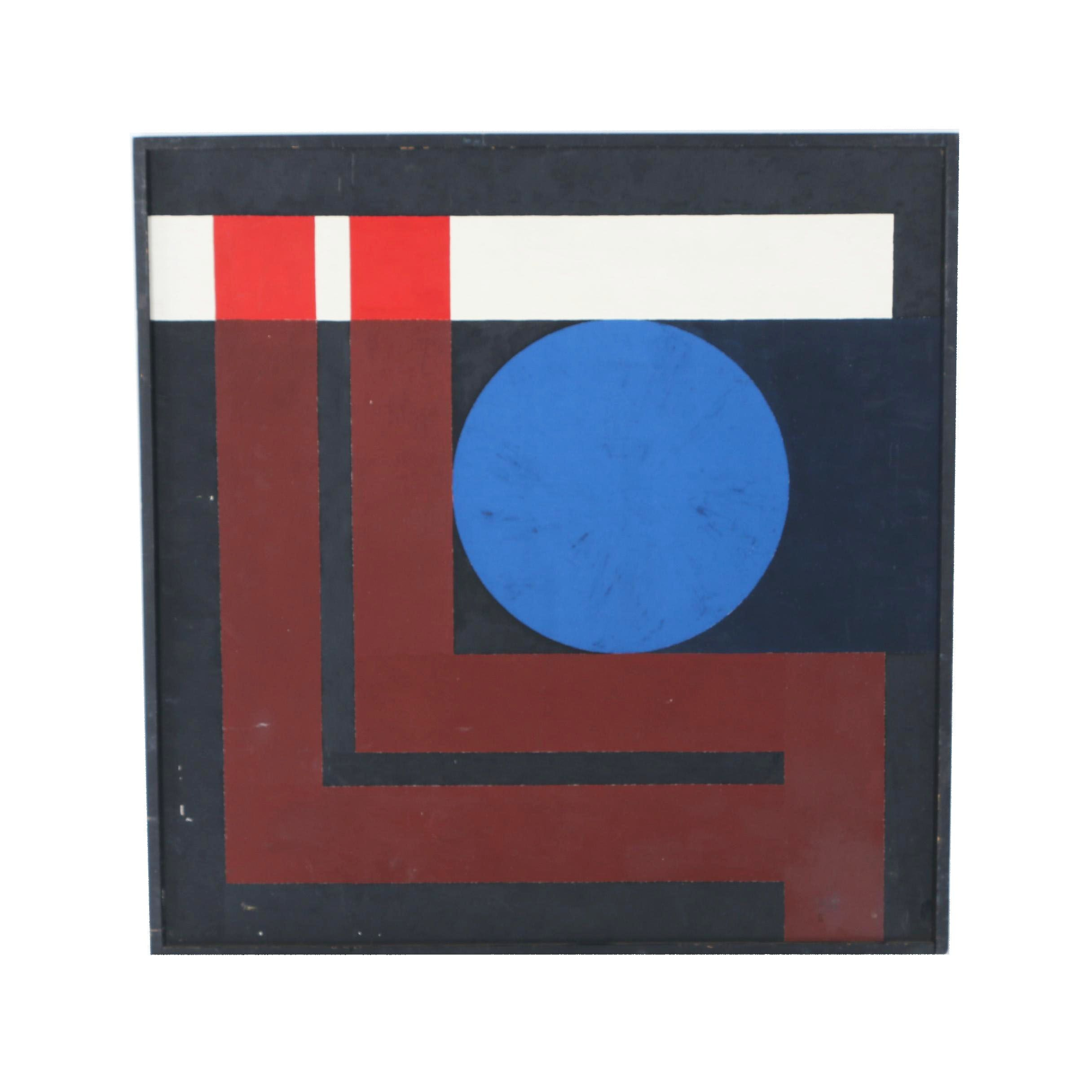 David Camele Abstract Geometric Oil Painting
