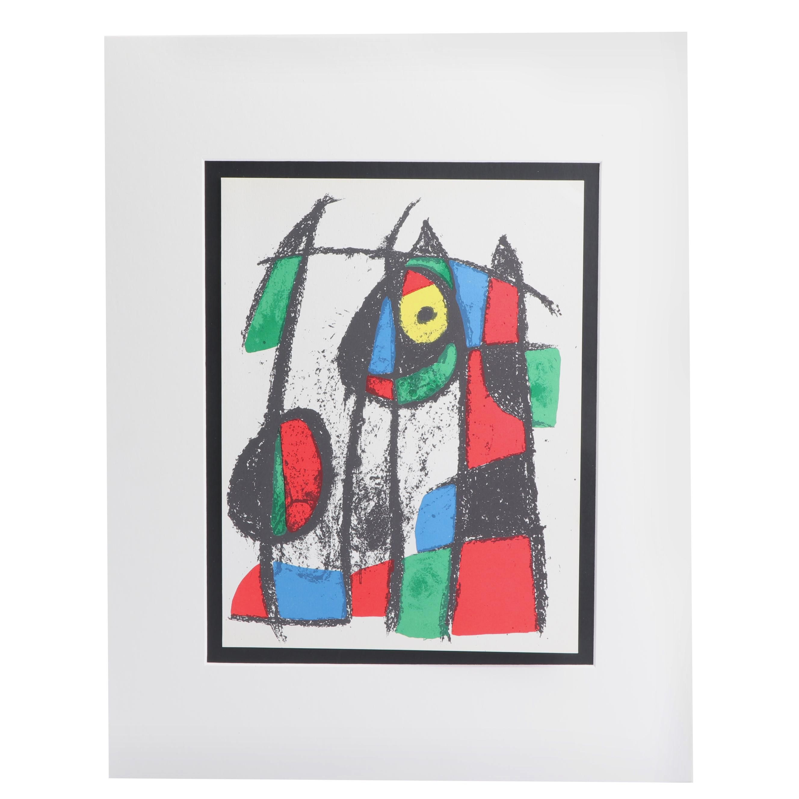"Joan Miró Color Lithograph from ""Miró Lithographs II"""