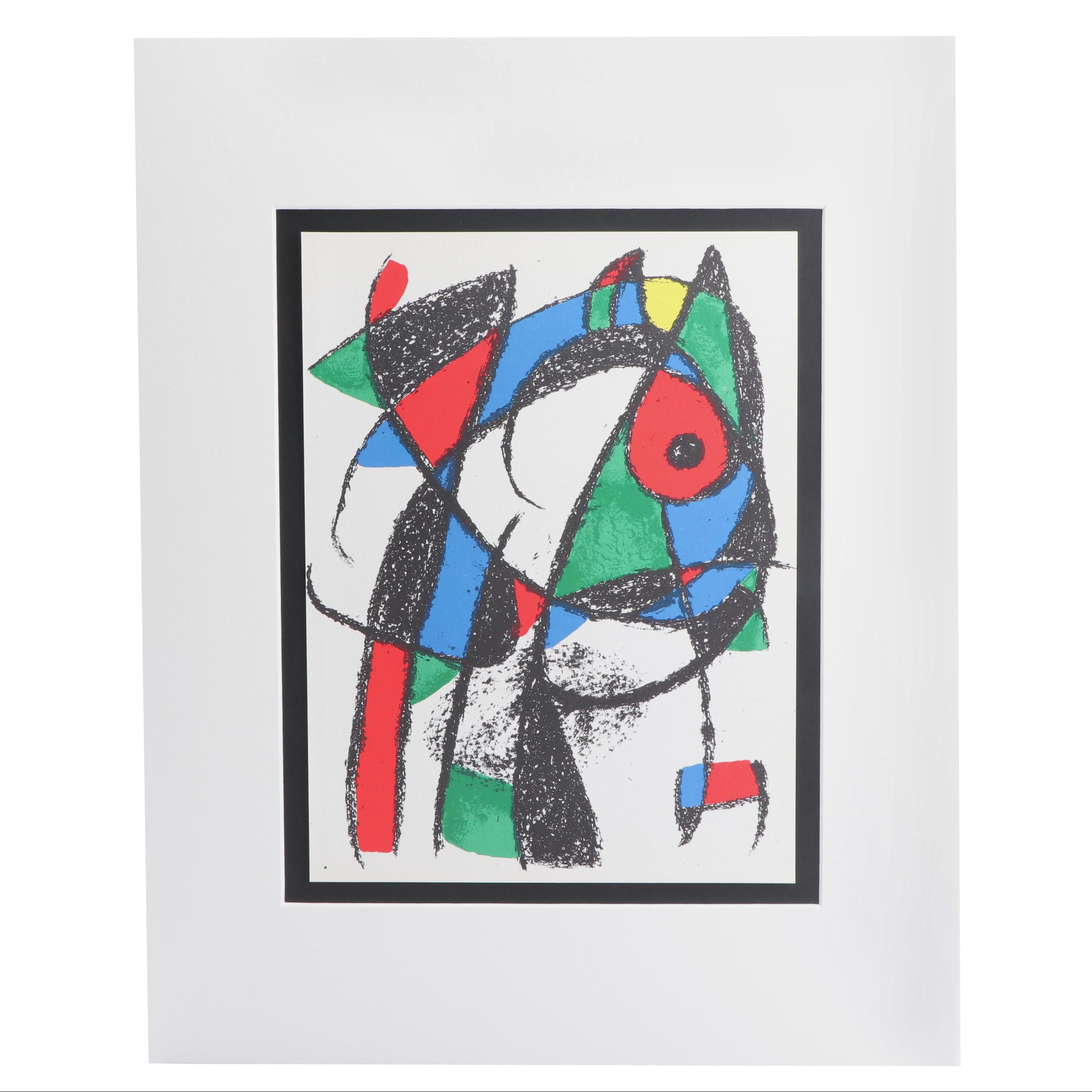 """Joan Miró Color Lithograph for """"Miró Lithographs II"""""""