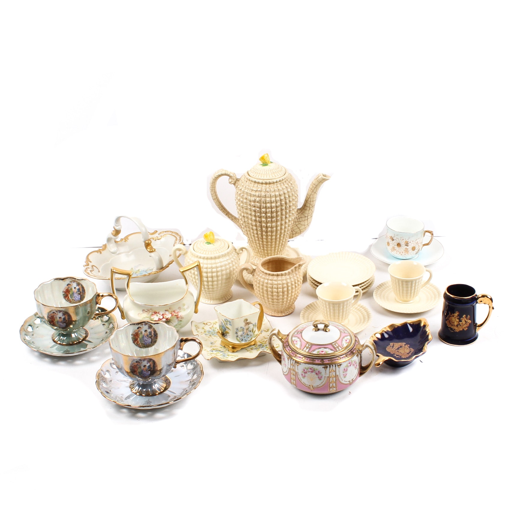 Tea Pots, Mugs, and Cups Assortment
