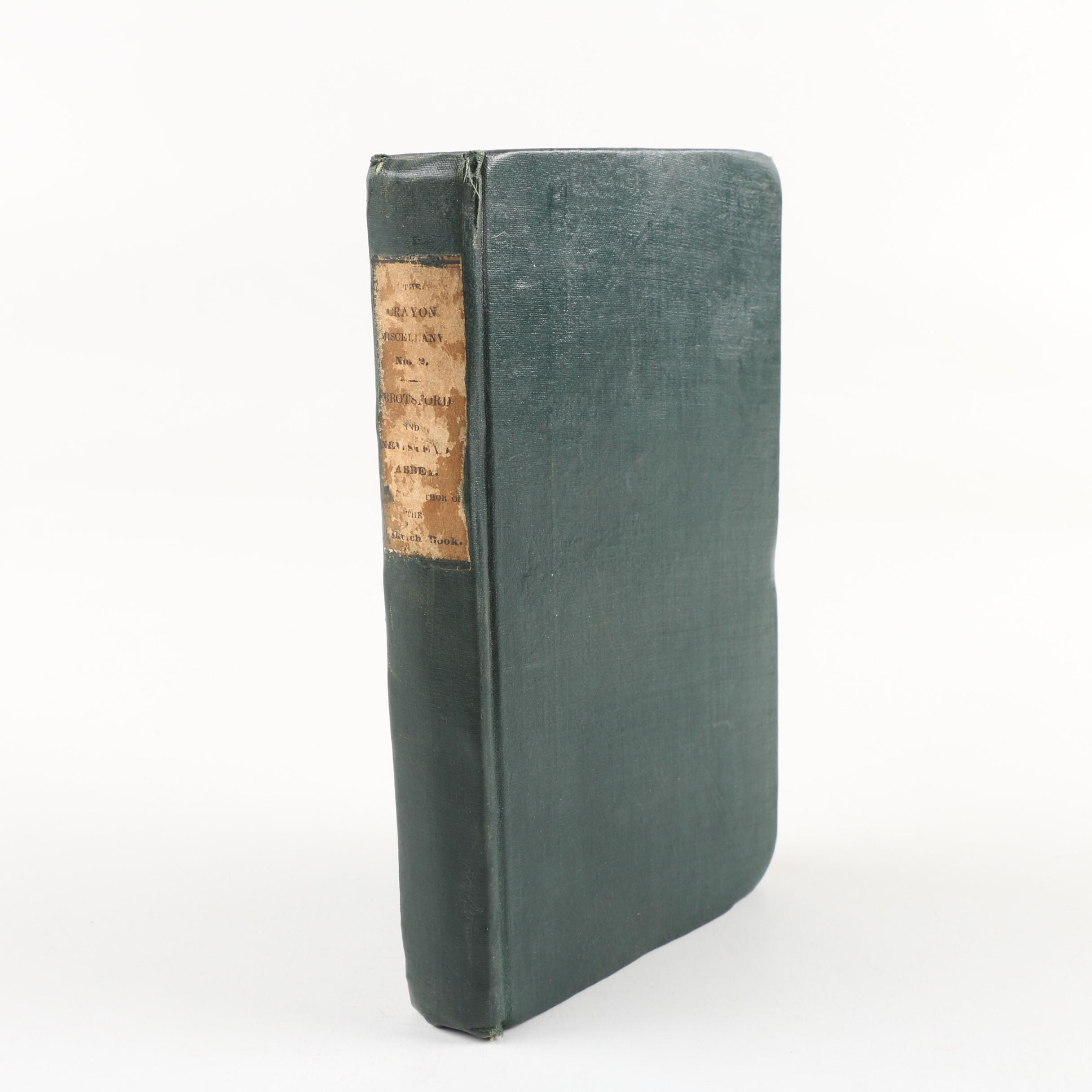 """First Printing """"The Crayon Miscellany No. 2"""" by Washington Irving, 1835"""