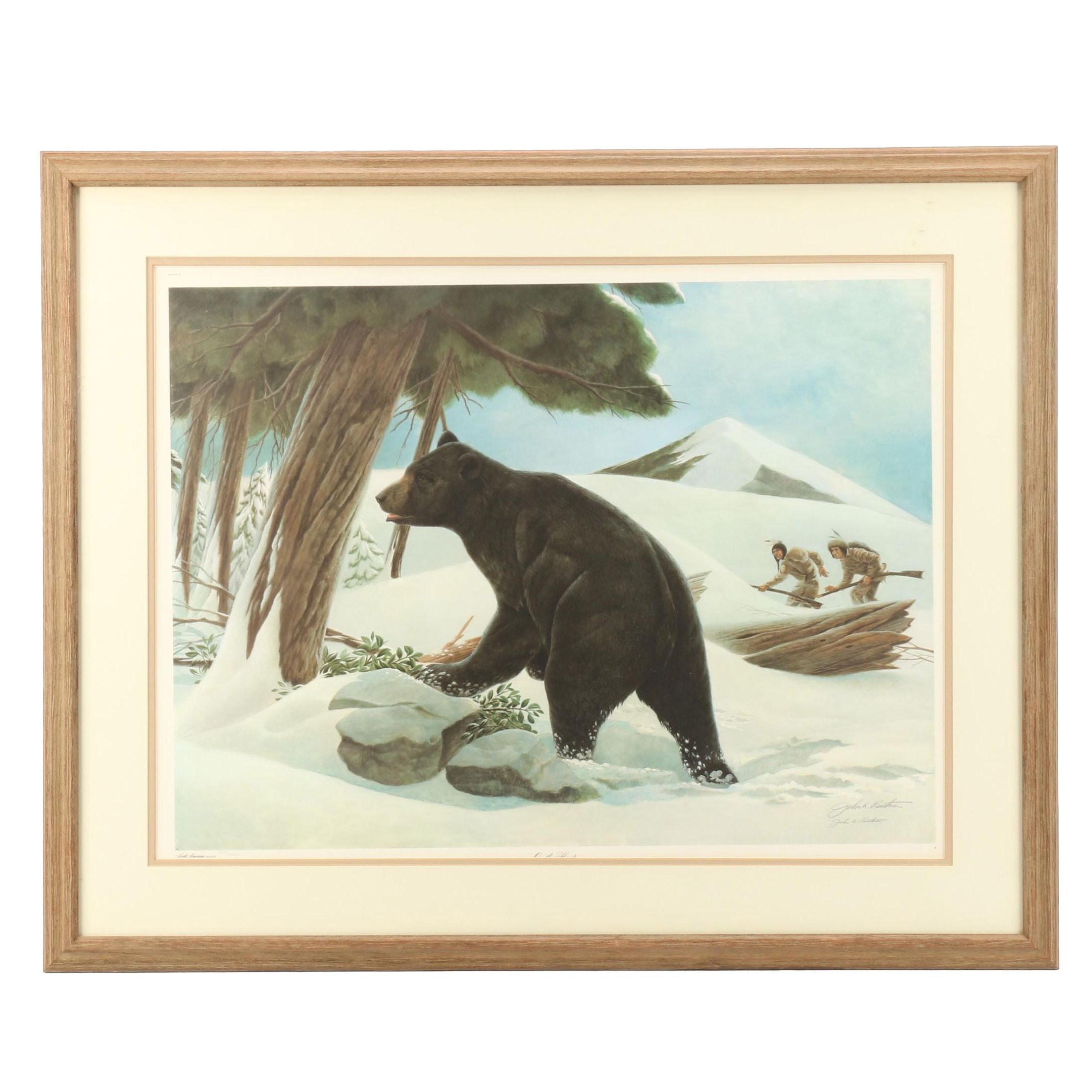"John Ruthven Limited Edition Offset Lithograph ""On the Hunt"""