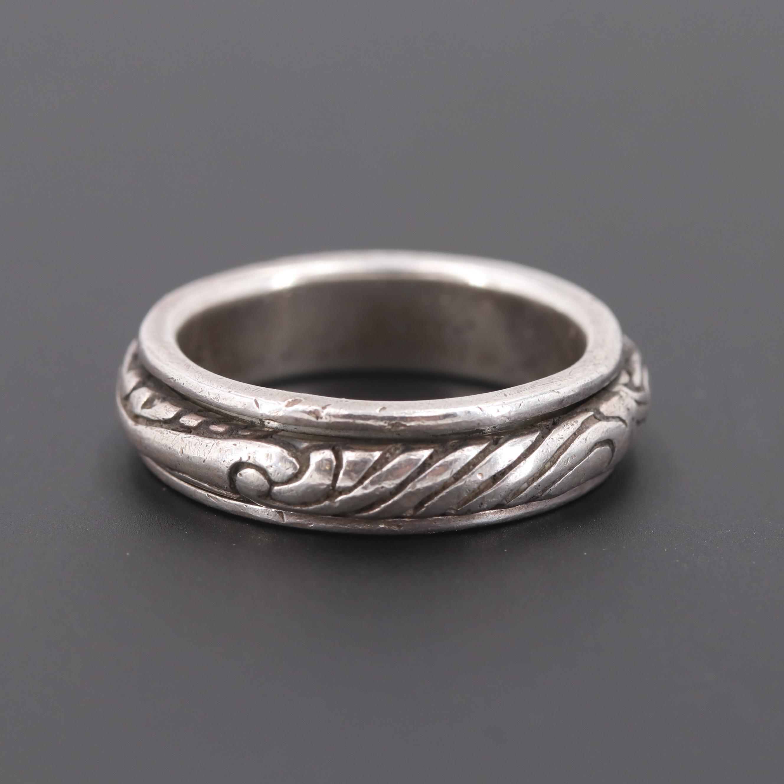 Sterling Silver Spinner Ring
