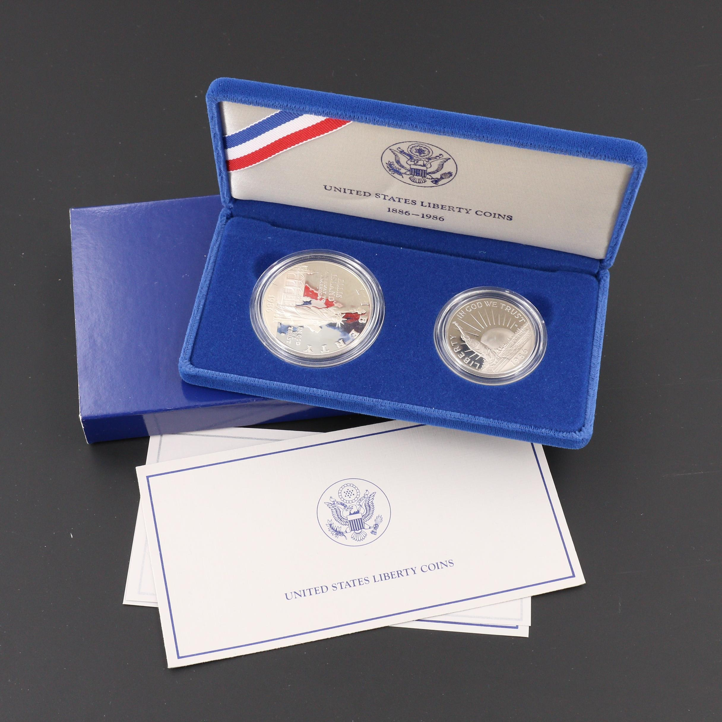 A 1986 Statue of Liberty Commemorative Coin Proof Set