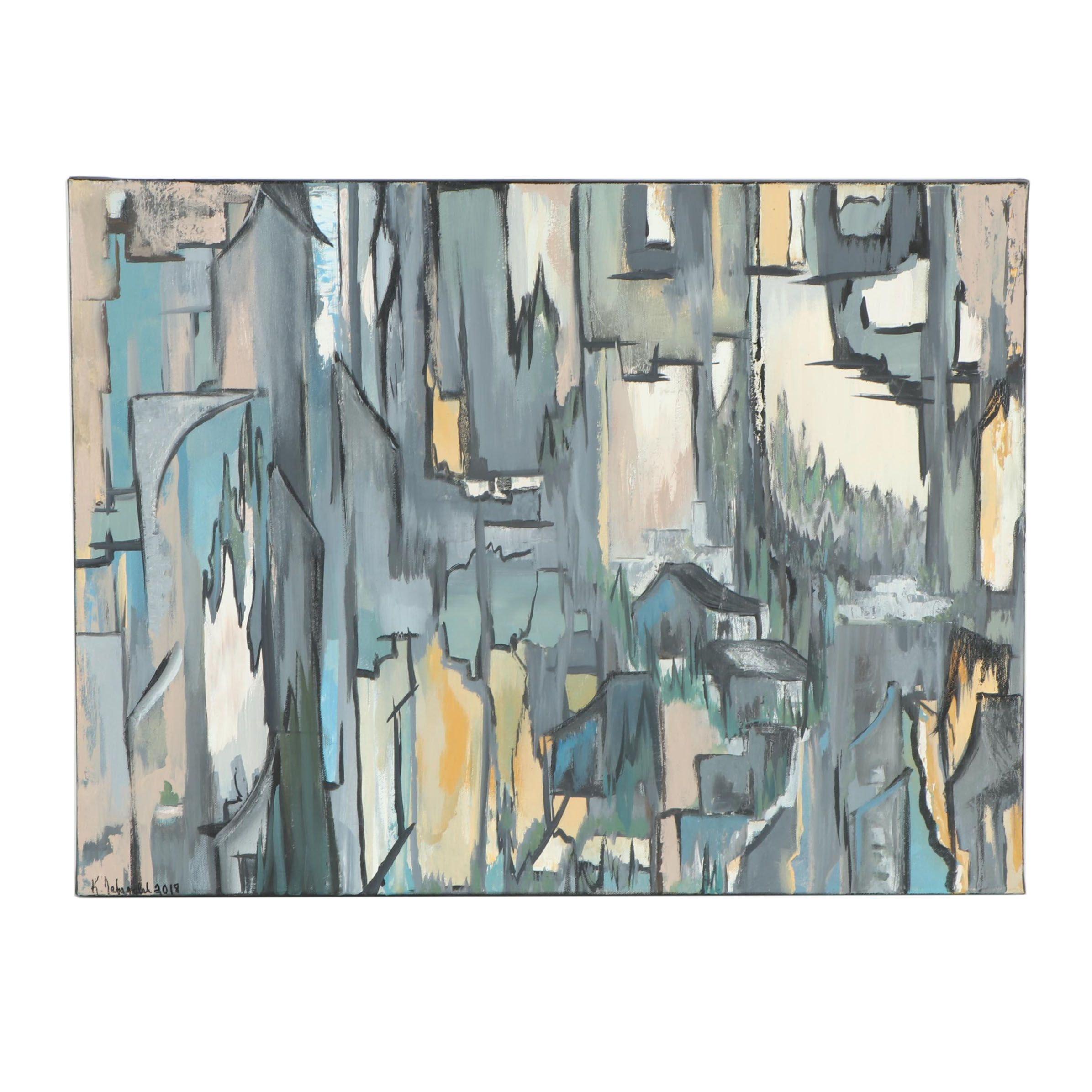 "Kristina Taherzadeh Oil Painting ""Kofka's House"""