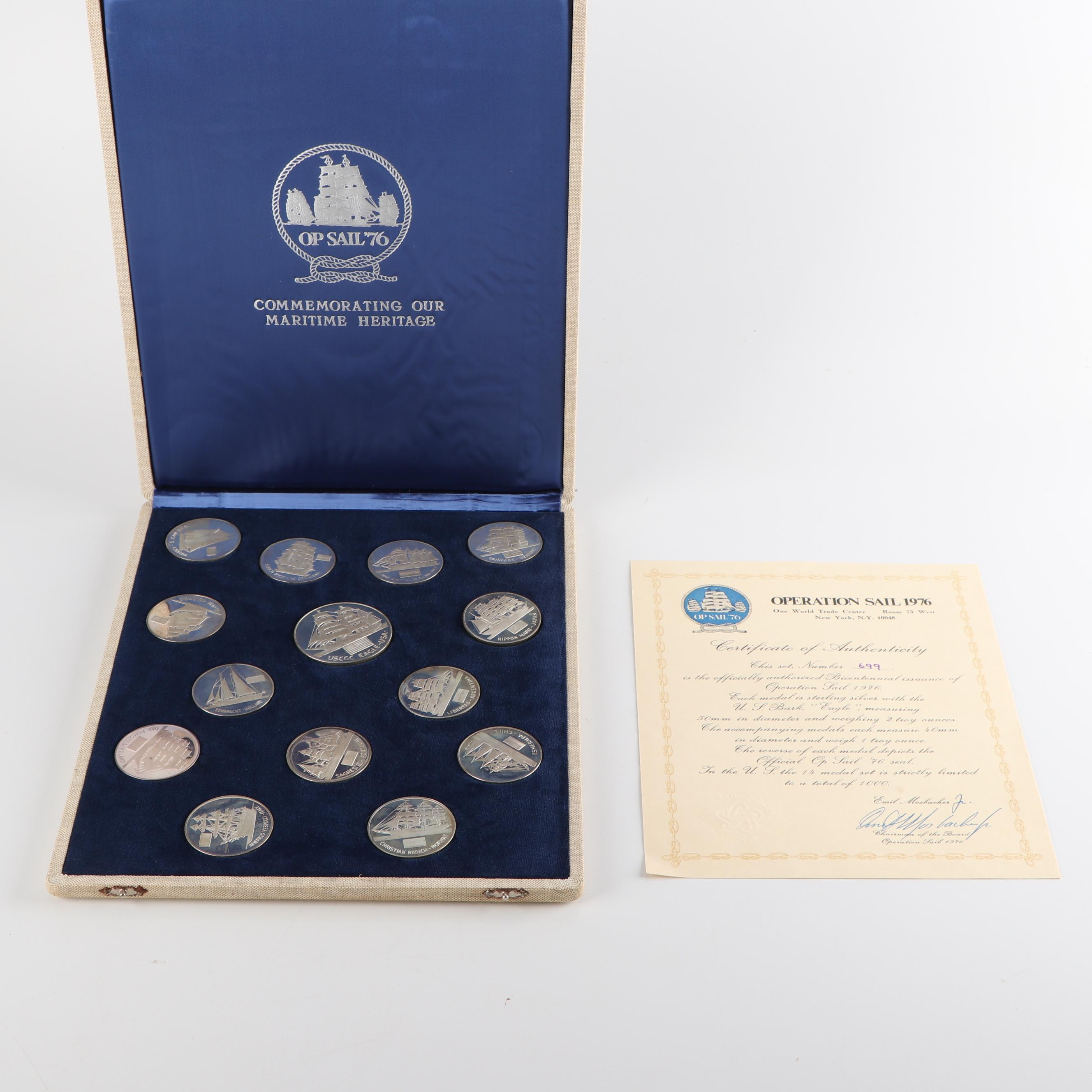 "1976 ""Operation Sail"" Sterling Silver Medal Set"