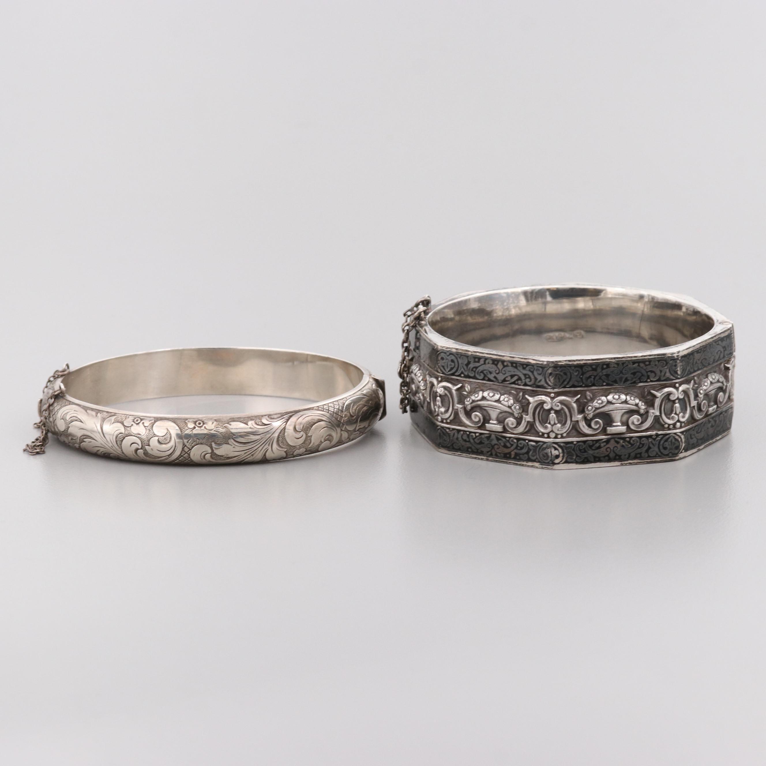 Topazio 835 Silver and 800 Silver Bangle Bracelets