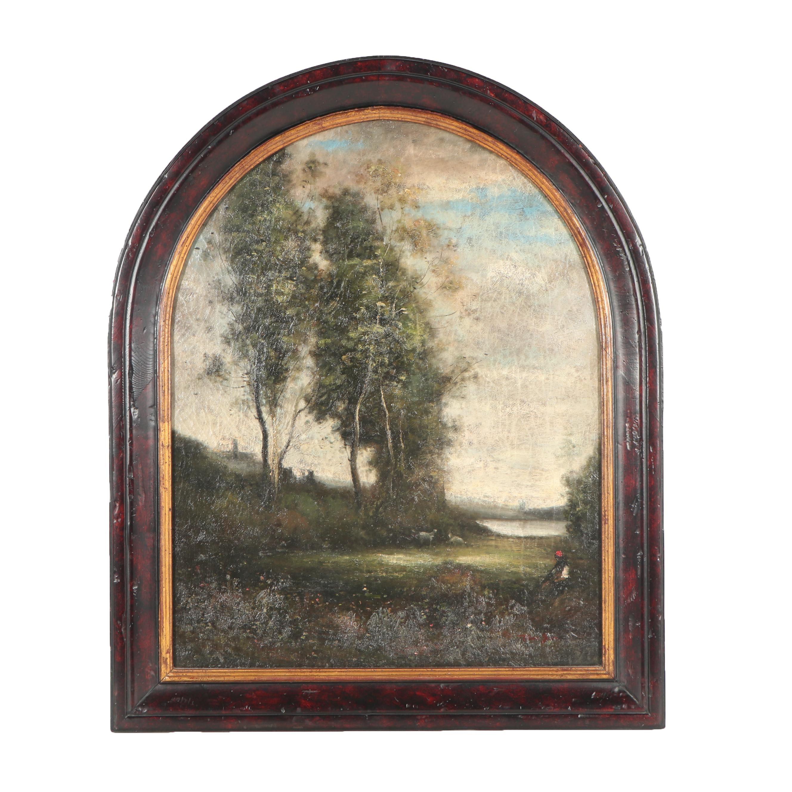 Trevor James Barbizon Style Landscape Oil Painting