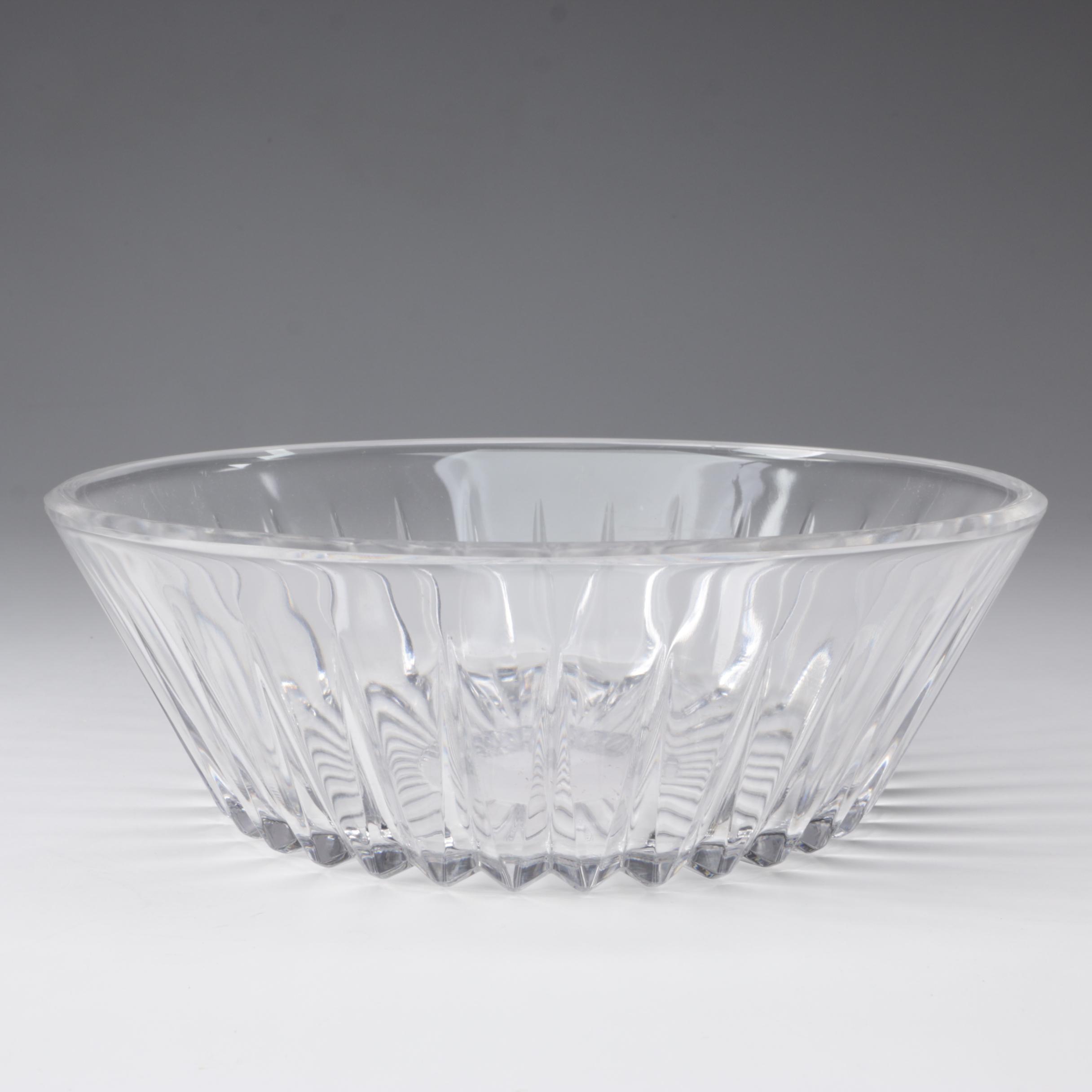 "Val St. Lambert ""Balmoral"" Round Crystal Bowl"