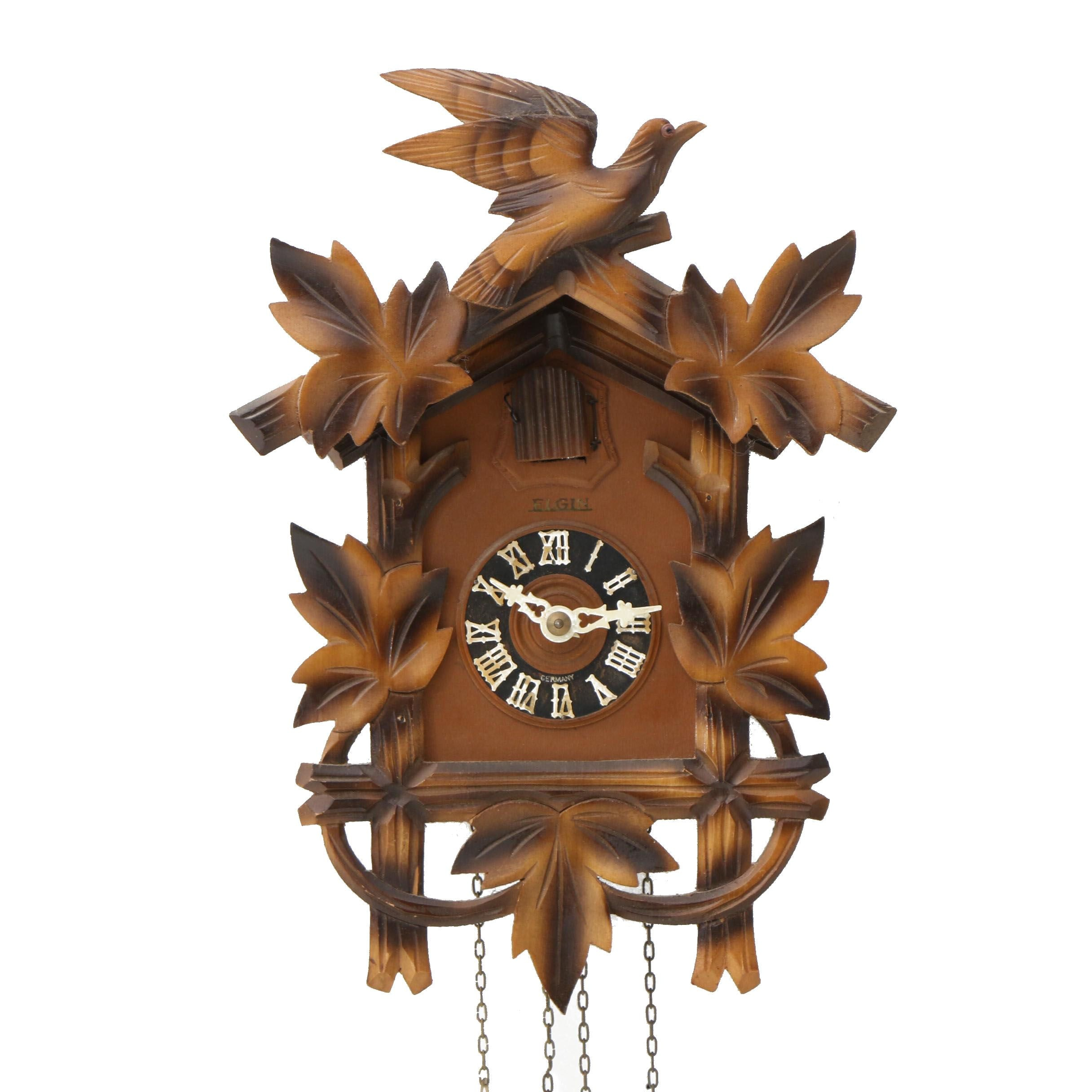 German Elgin Hubert Herr Movement Cuckoo Clock