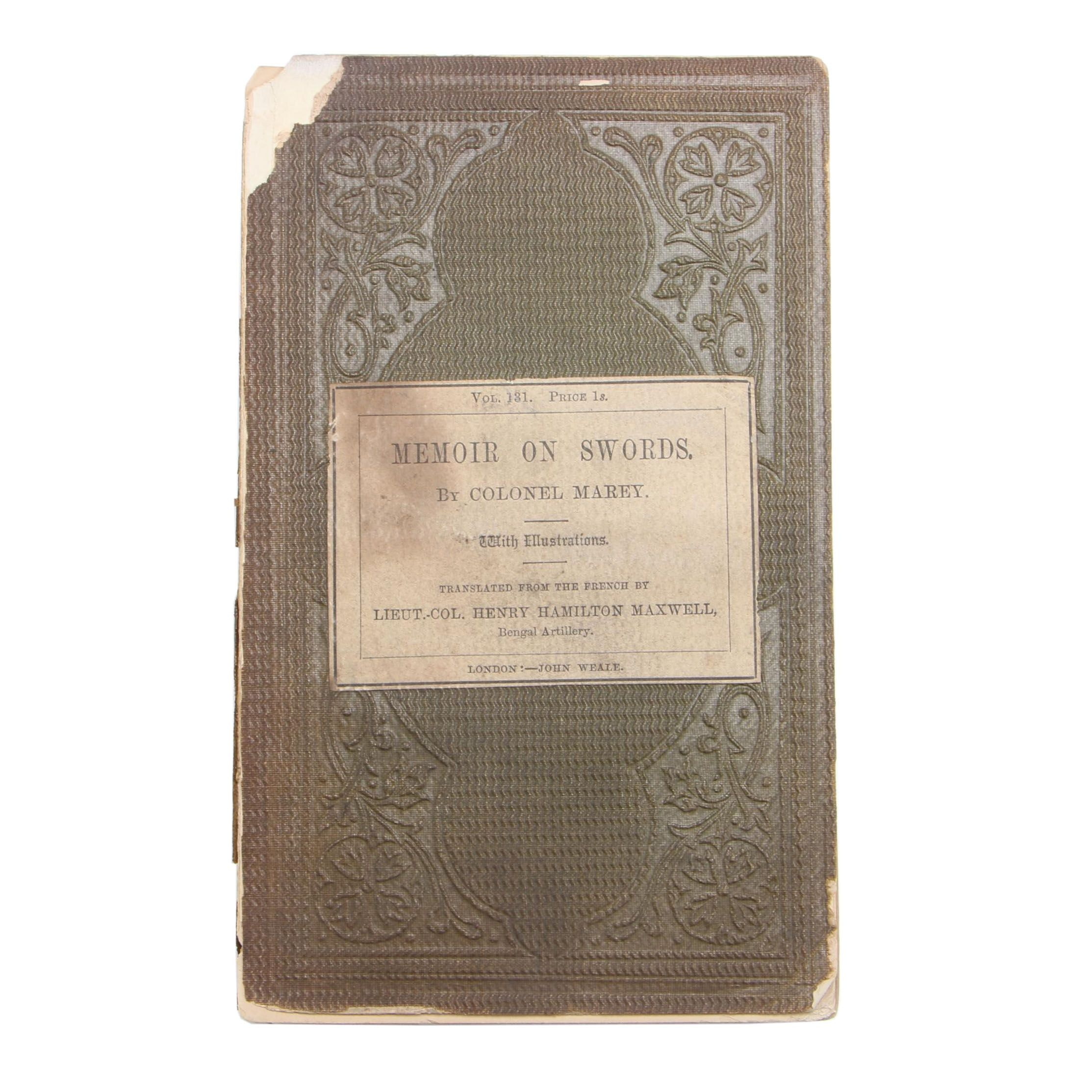 "1860 ""Memoir on Swords"""