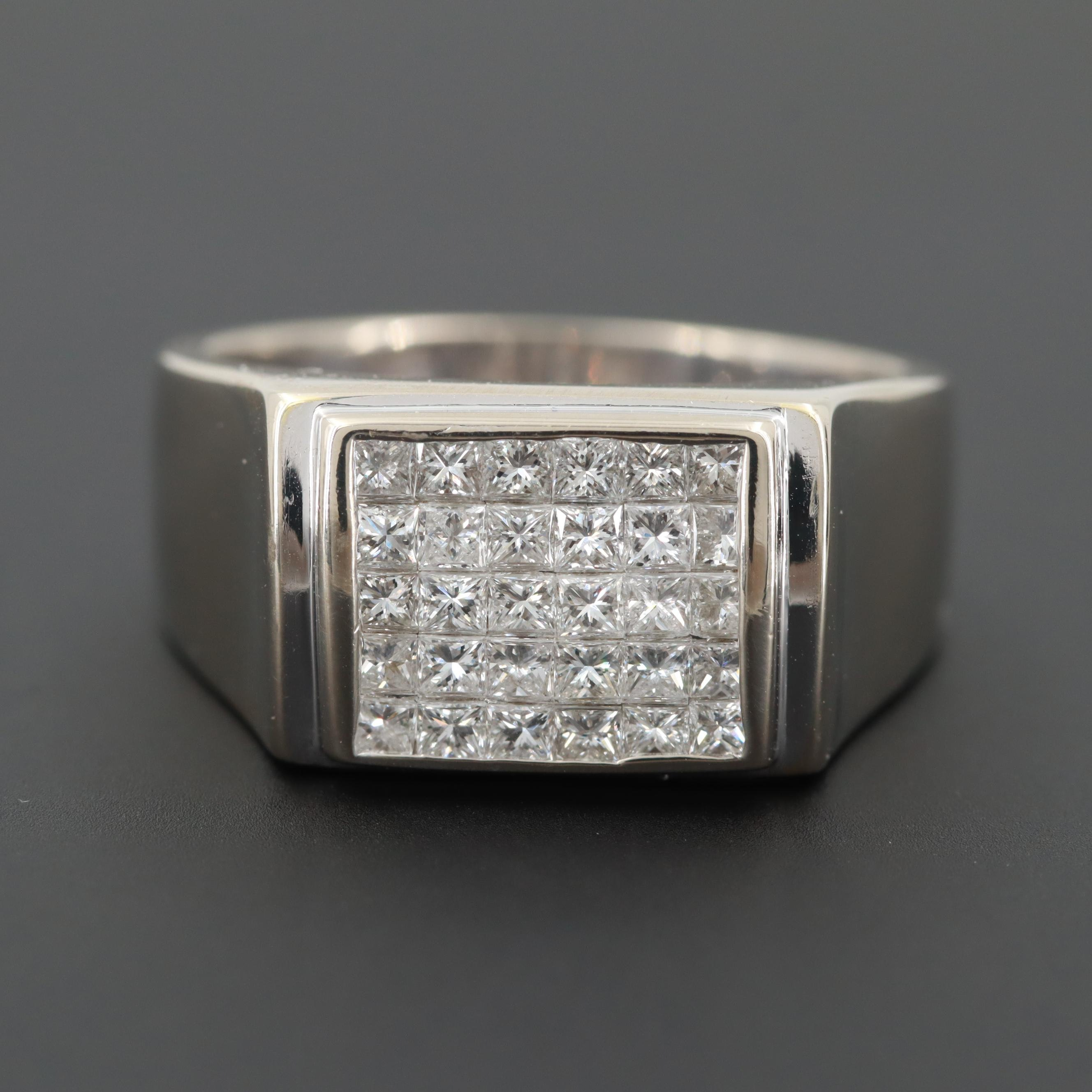 14K White Gold 1.05 CT Diamond Ring