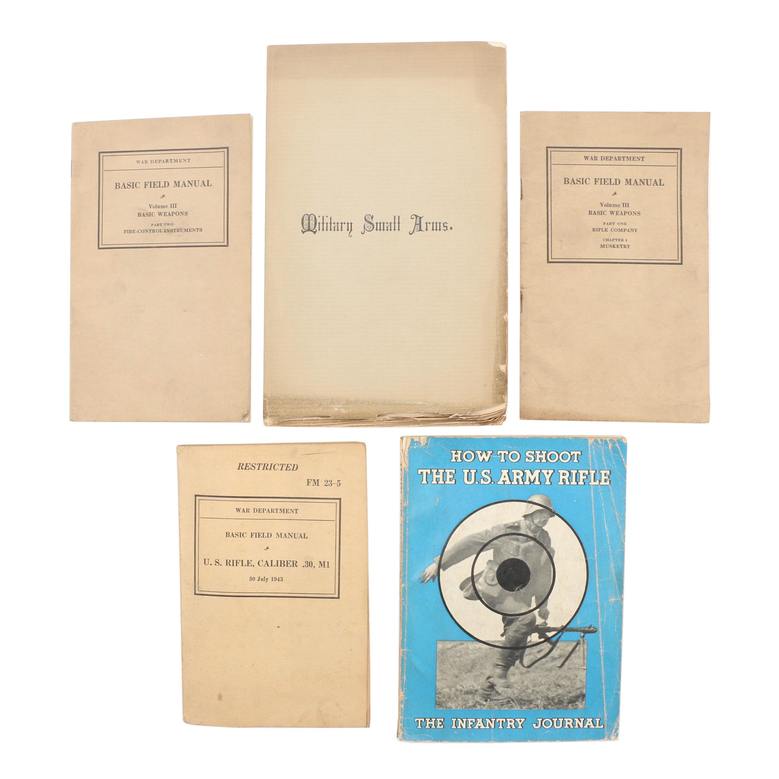 Vintage and Antique Military Field Manuals