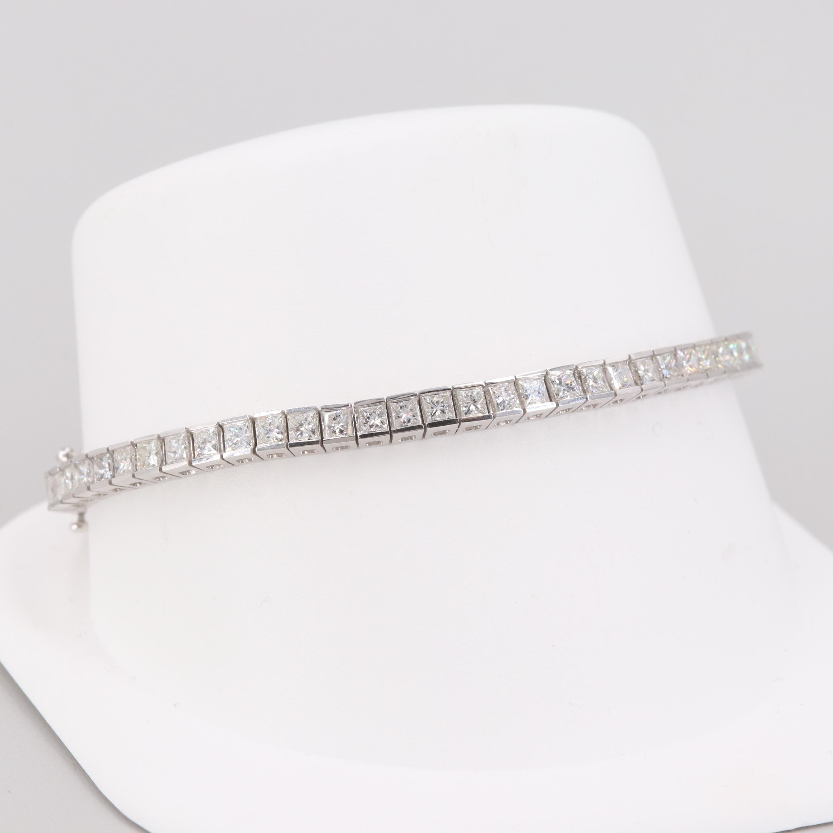 14K White Gold 4.96 CTW Diamond Bracelet