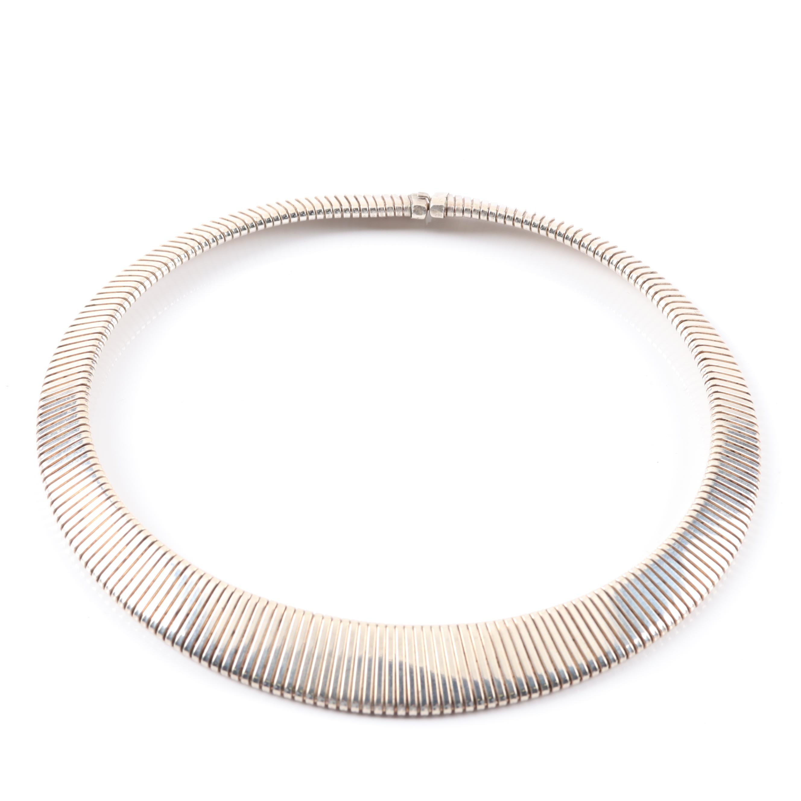 Sterling Silver Graduating Choker Necklace