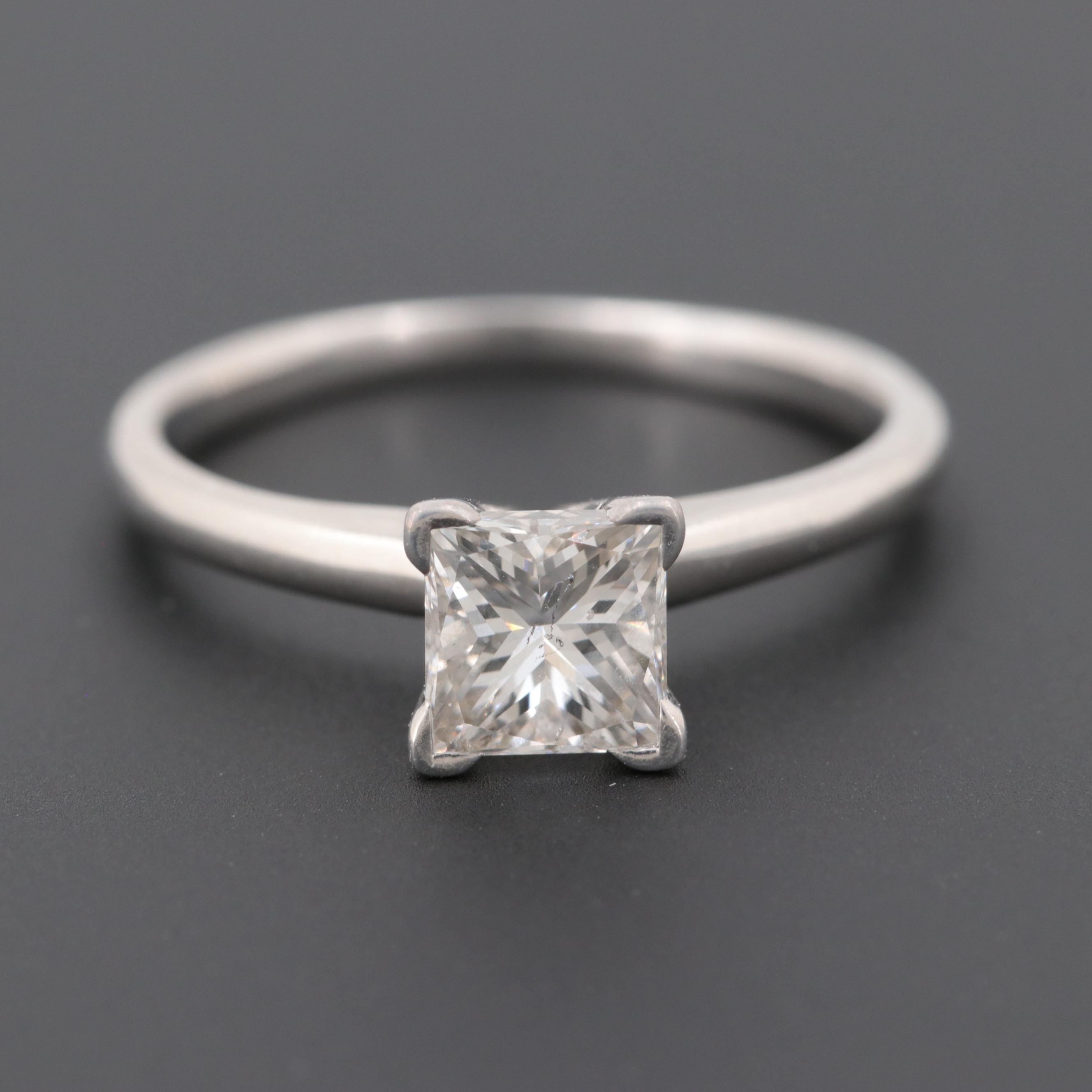 14K White Gold 1.20 CT Diamond Solitaire Ring