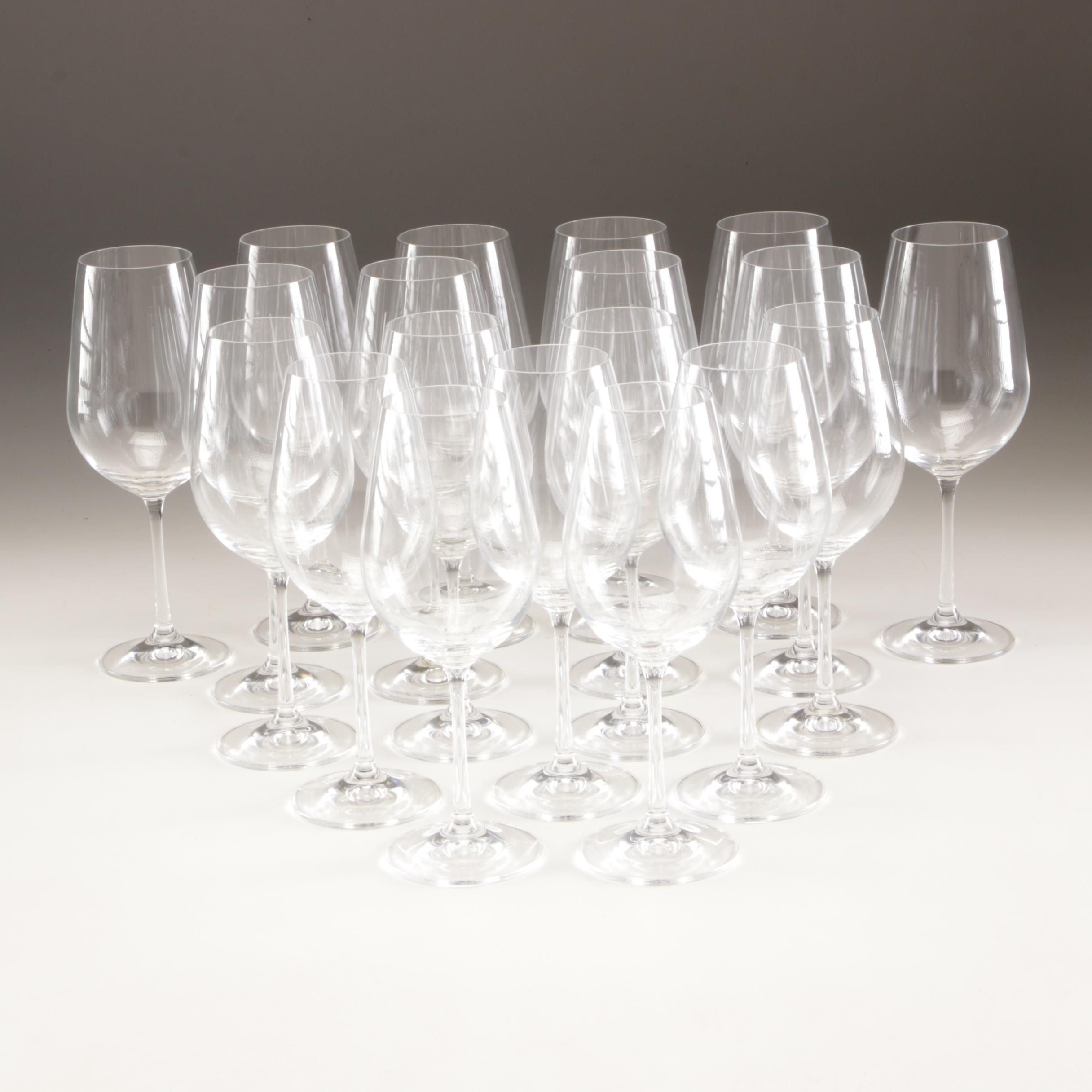 Red Wine and White Wine Stemware by RV