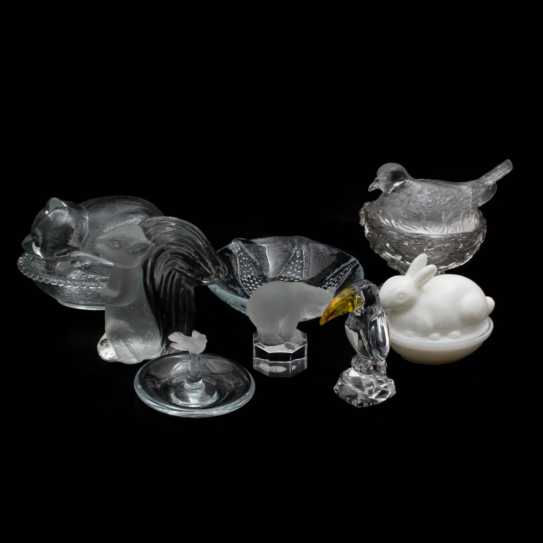 Glass Menagerie including Goebel Polar Bear