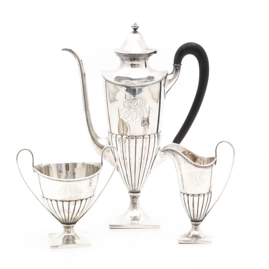 Bailey Banks Biddle Sterling Silver Coffee Set Ebth