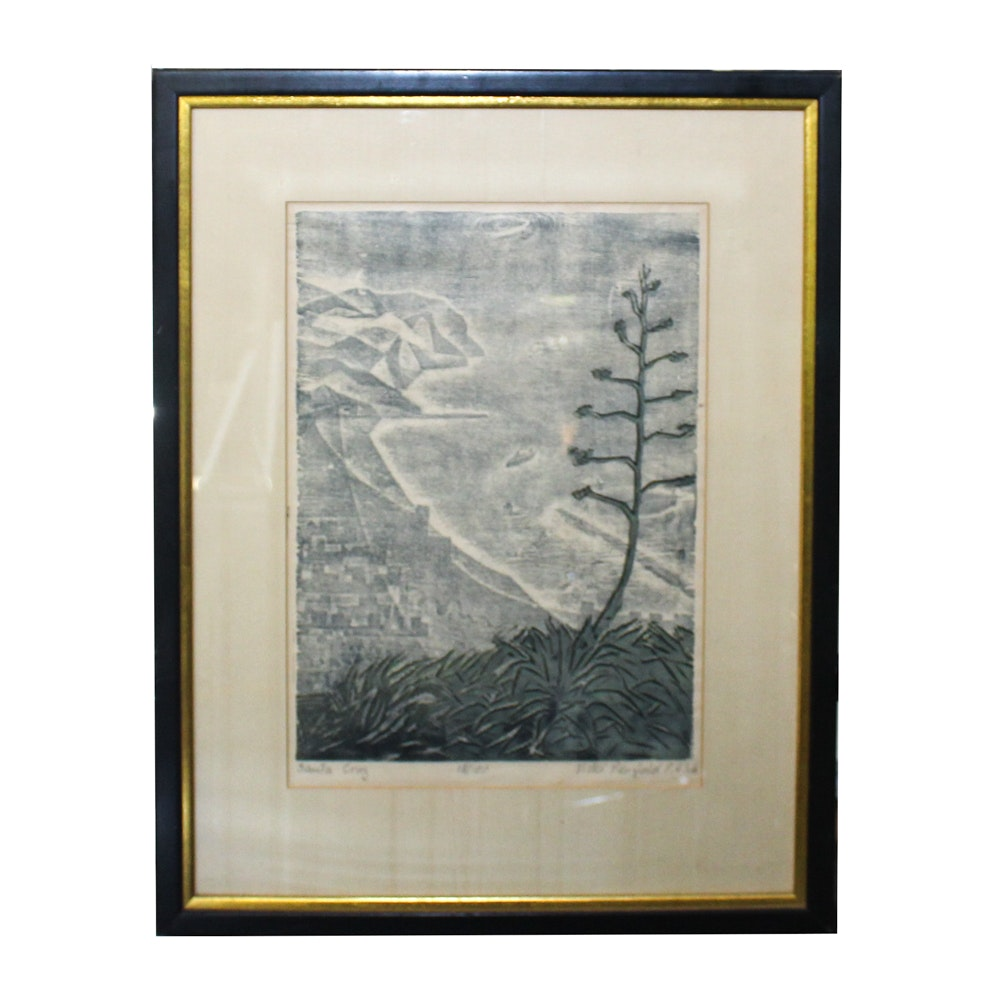 "Vickie Penfold Relief Print ""Santa Cruz"""