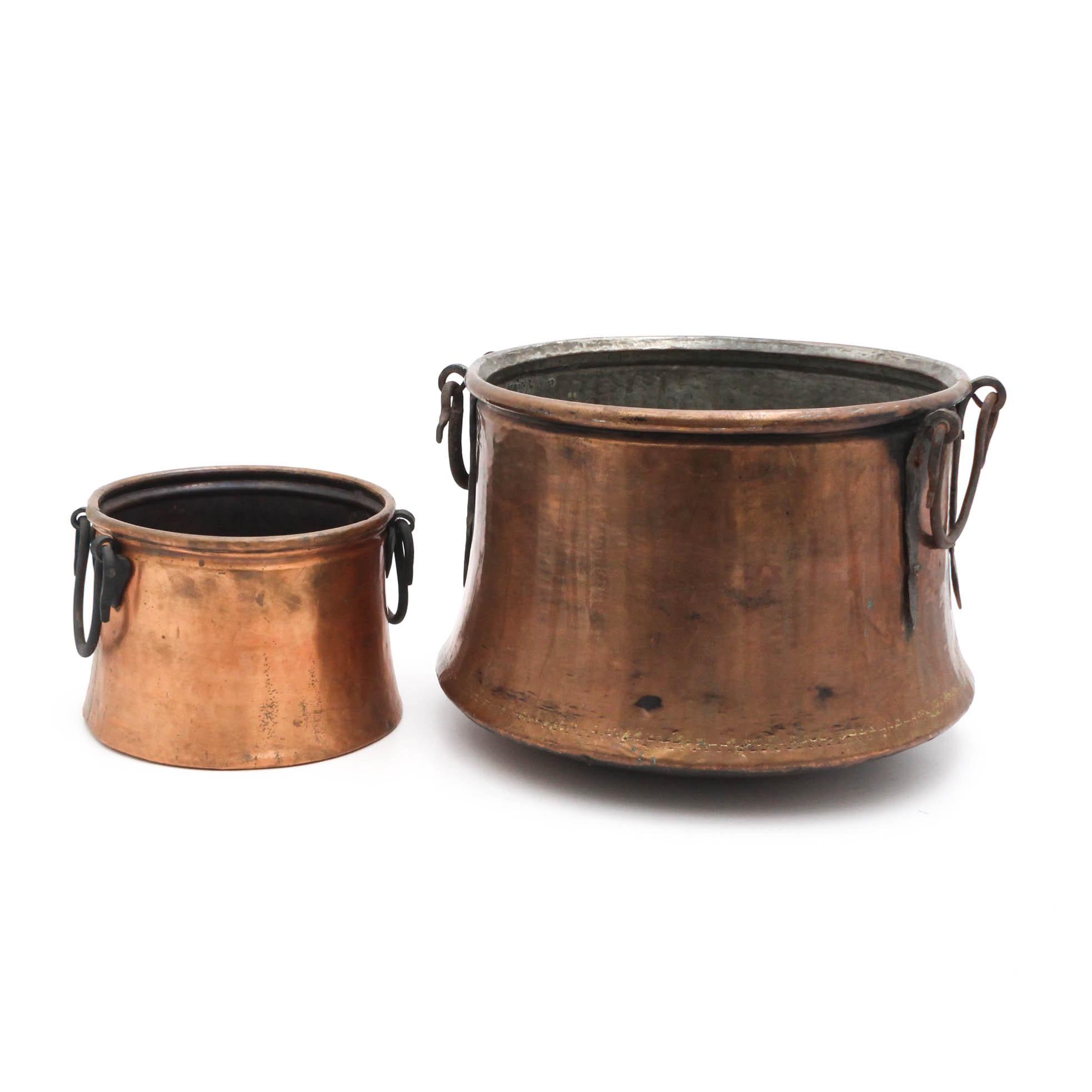 Vintage Turkish Copper Pots