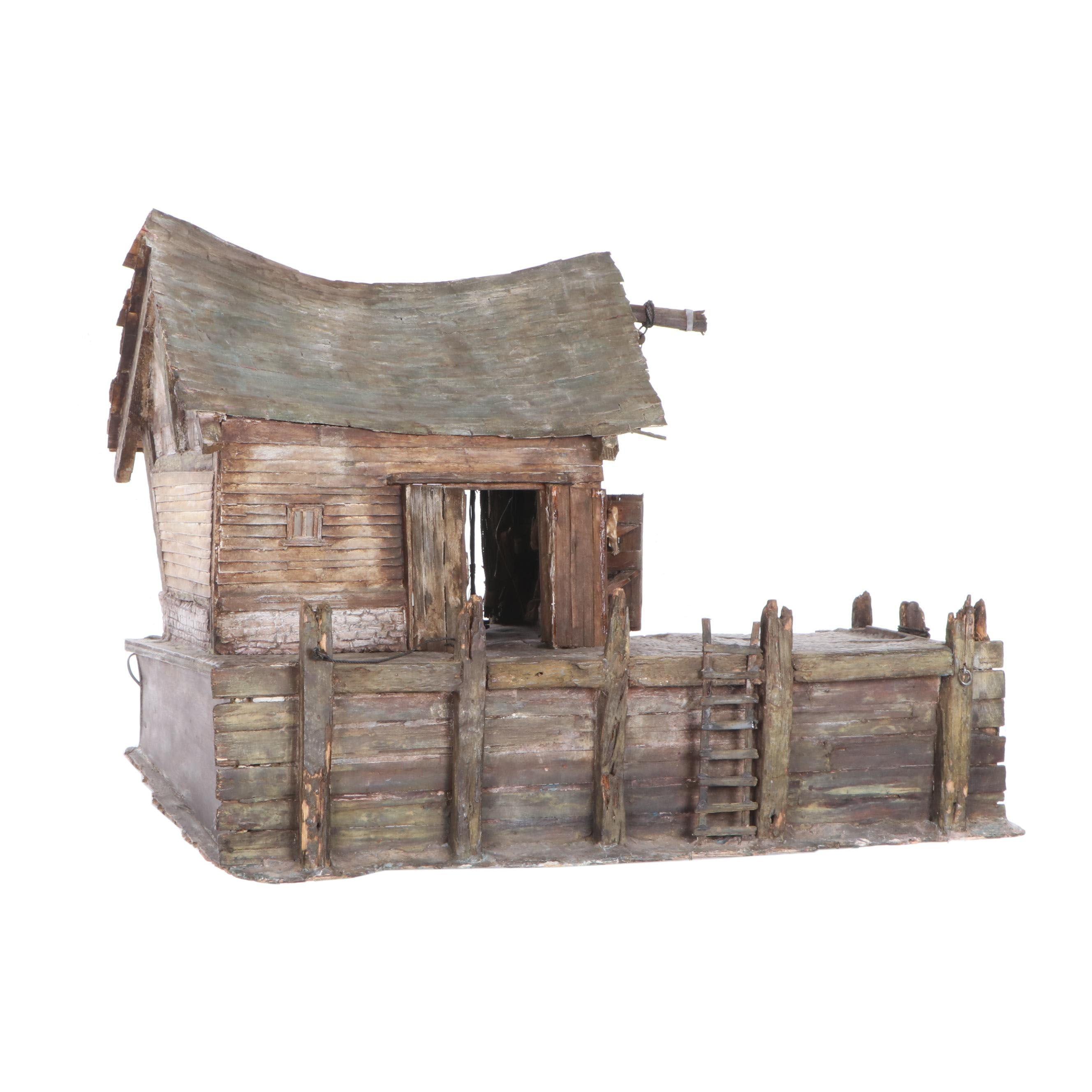 English Seaside Dock Driftwood Dollhouse Miniature