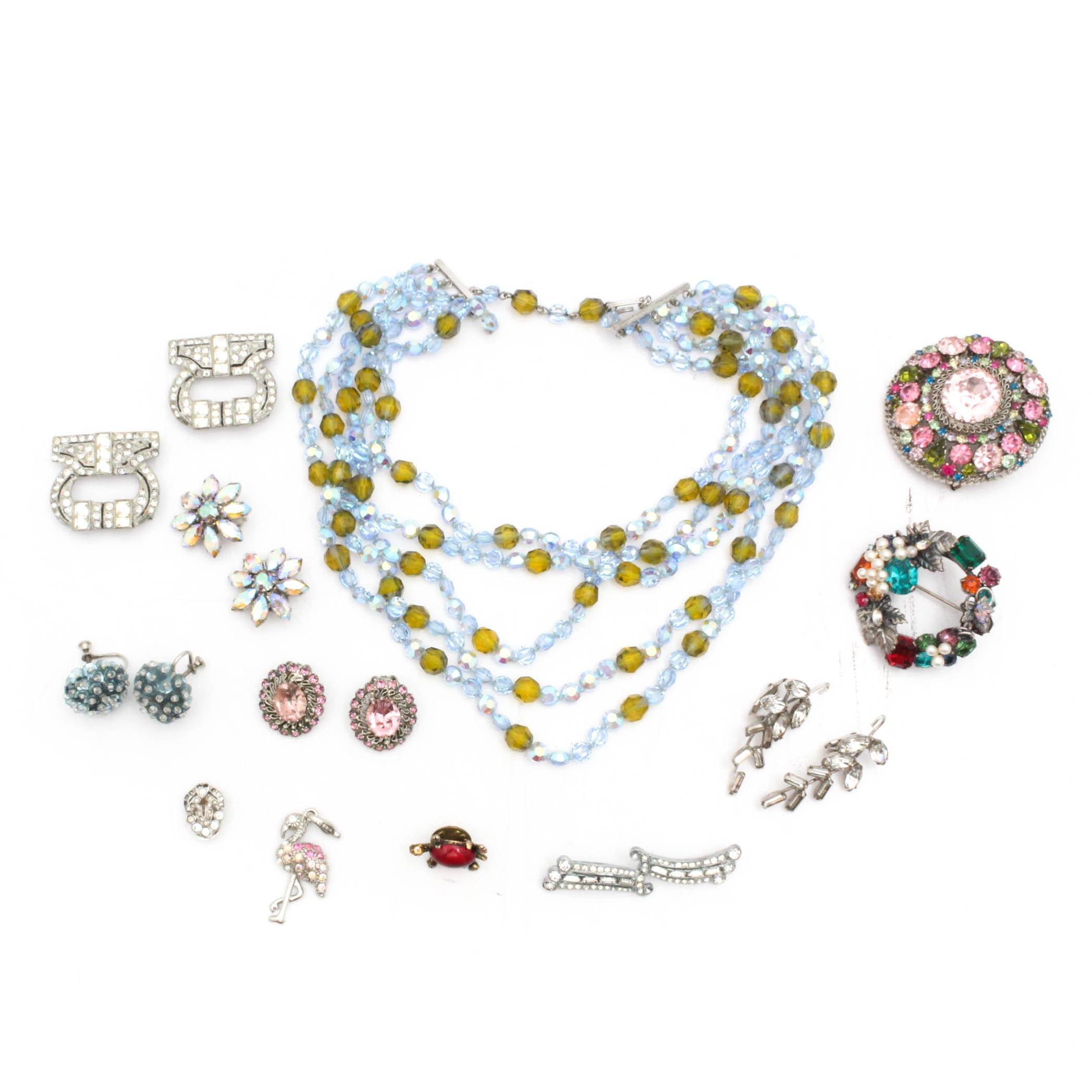 Rhinestone and Crystal Vintage Jewelry