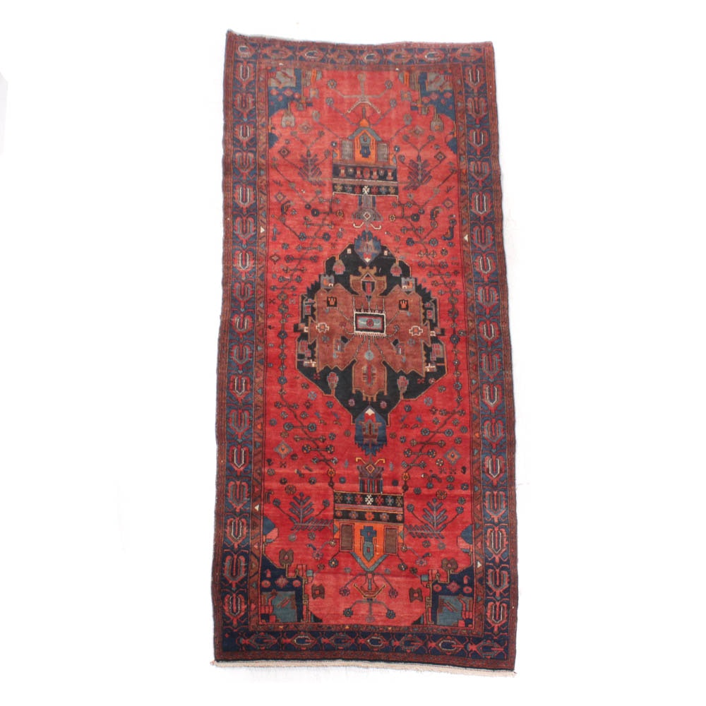 Hand-Knotted Persian Northwest Azerbaijani Wool Long Rug