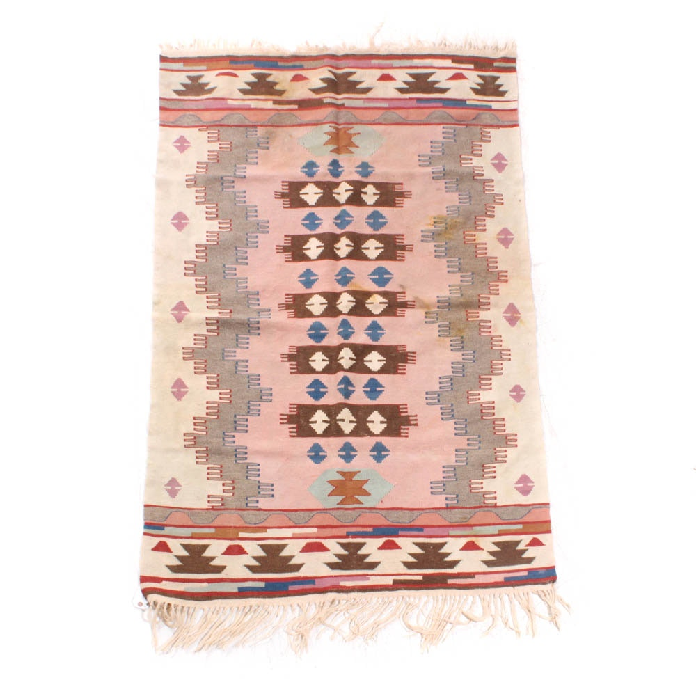 Handwoven Turkish Kilim, Early to Mid 20th Century