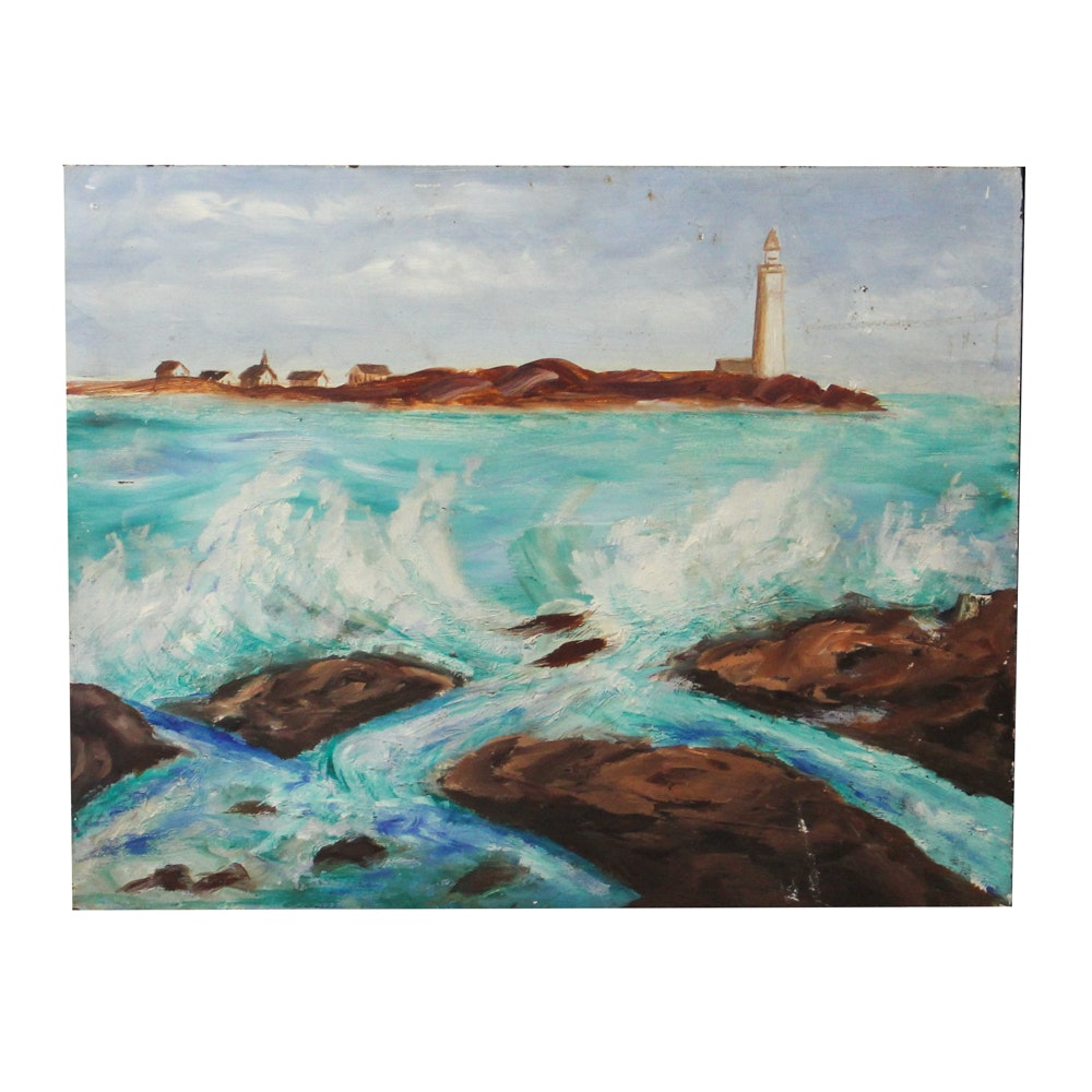 Oil Painting of Lighthouse