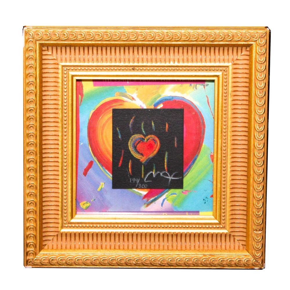 "Peter Max Serigraph ""Messages from the Heart"""