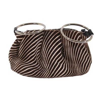 a82bc222ffd4 Kate Spade New York Zebra Print Calf Hair Handbag with Ring Handles