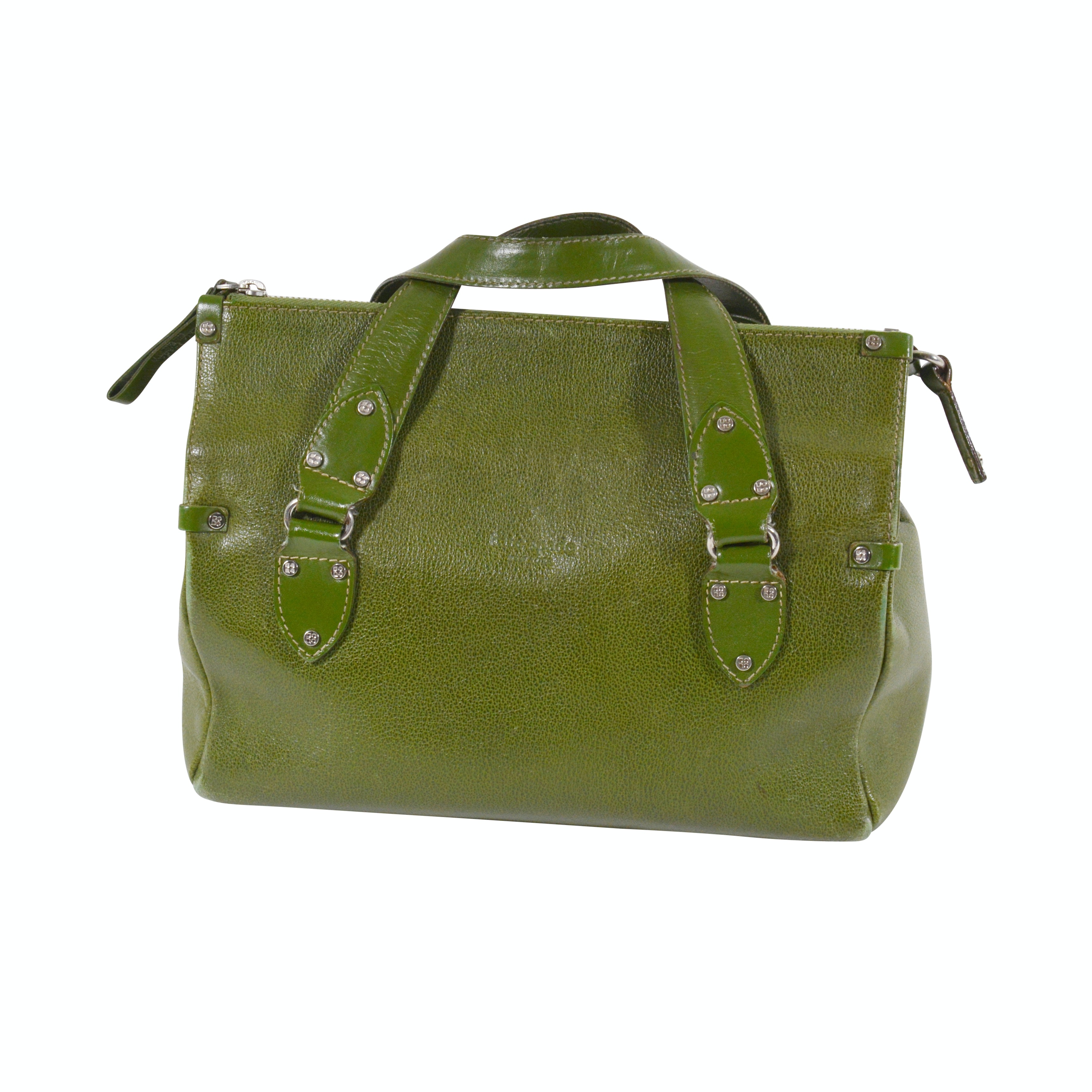 Kate Spade New York Green Embossed Leather Handbag