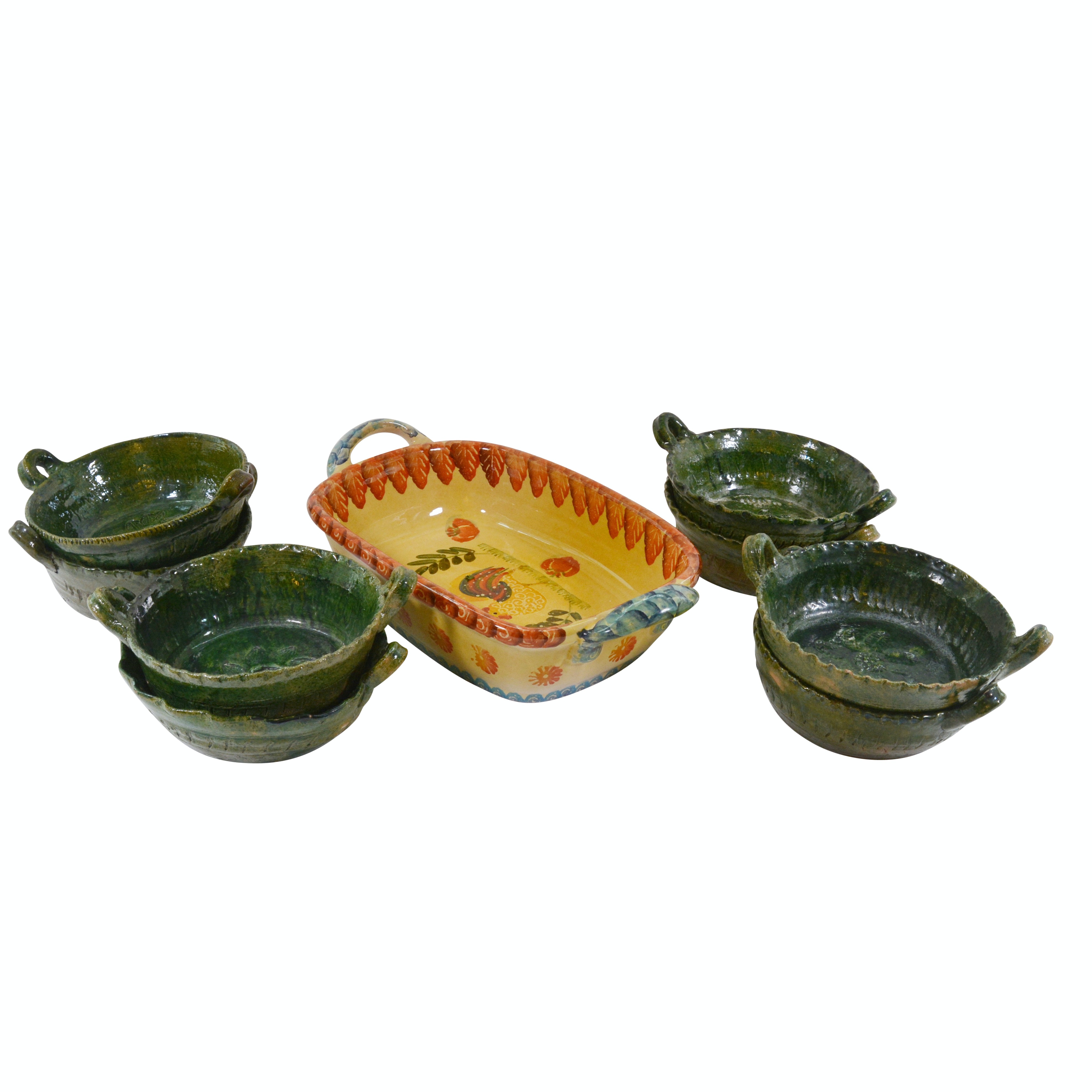 Italian Ceramic and Mexican Pottery Bakeware