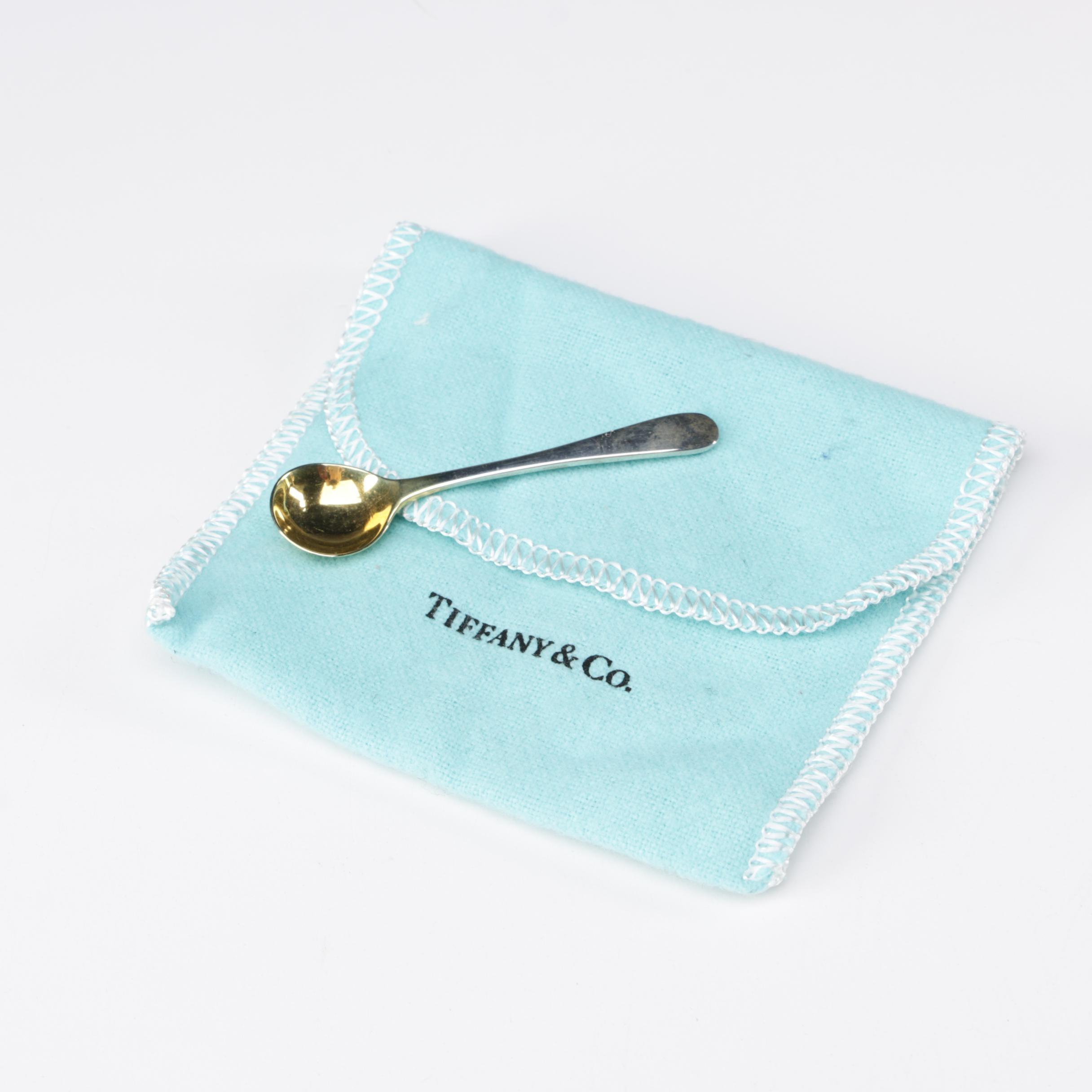 Tiffany & Co. of London Sterling Silver Salt Spoon, 1964