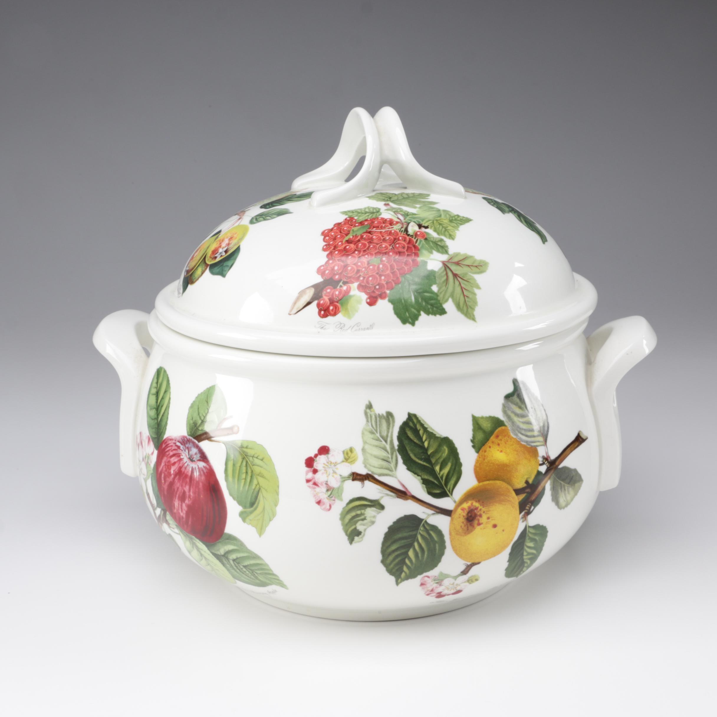 "Portmeirion Pottery ""Pomona"" Covered Casserole Dish"