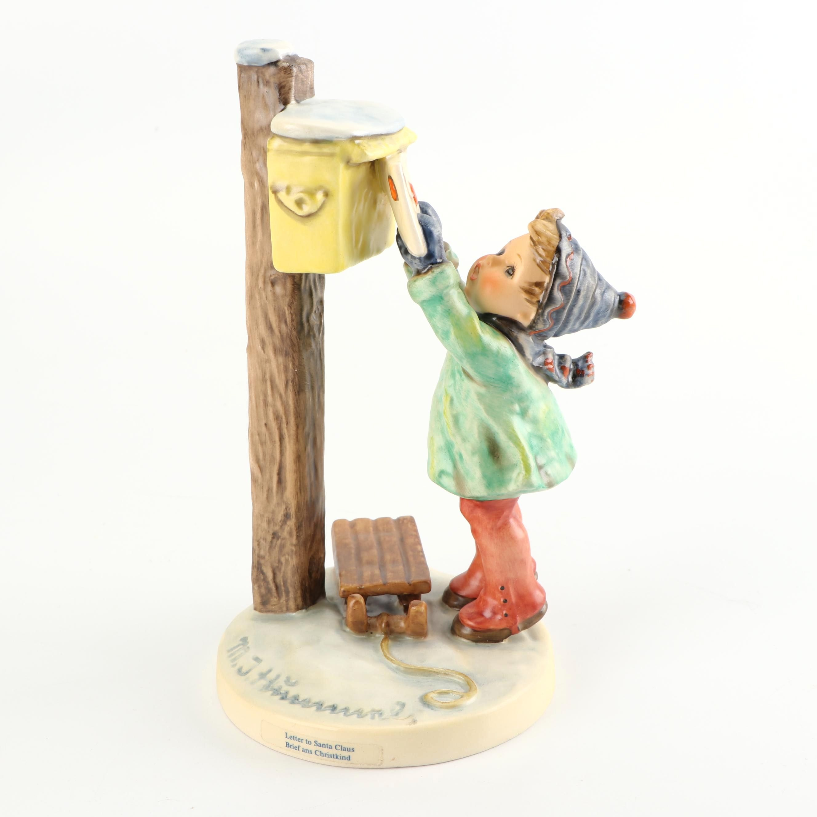 """A Letter to Santa Claus"" Figurine by Goebel"