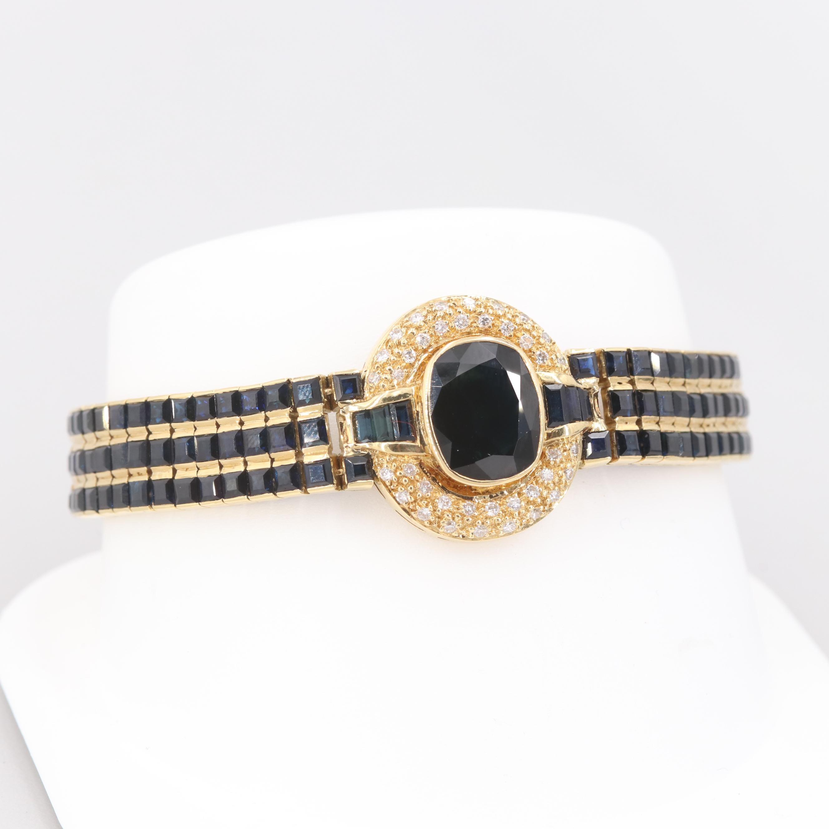 Le Vian 18K Yellow Gold Sapphire and Diamond Bracelet