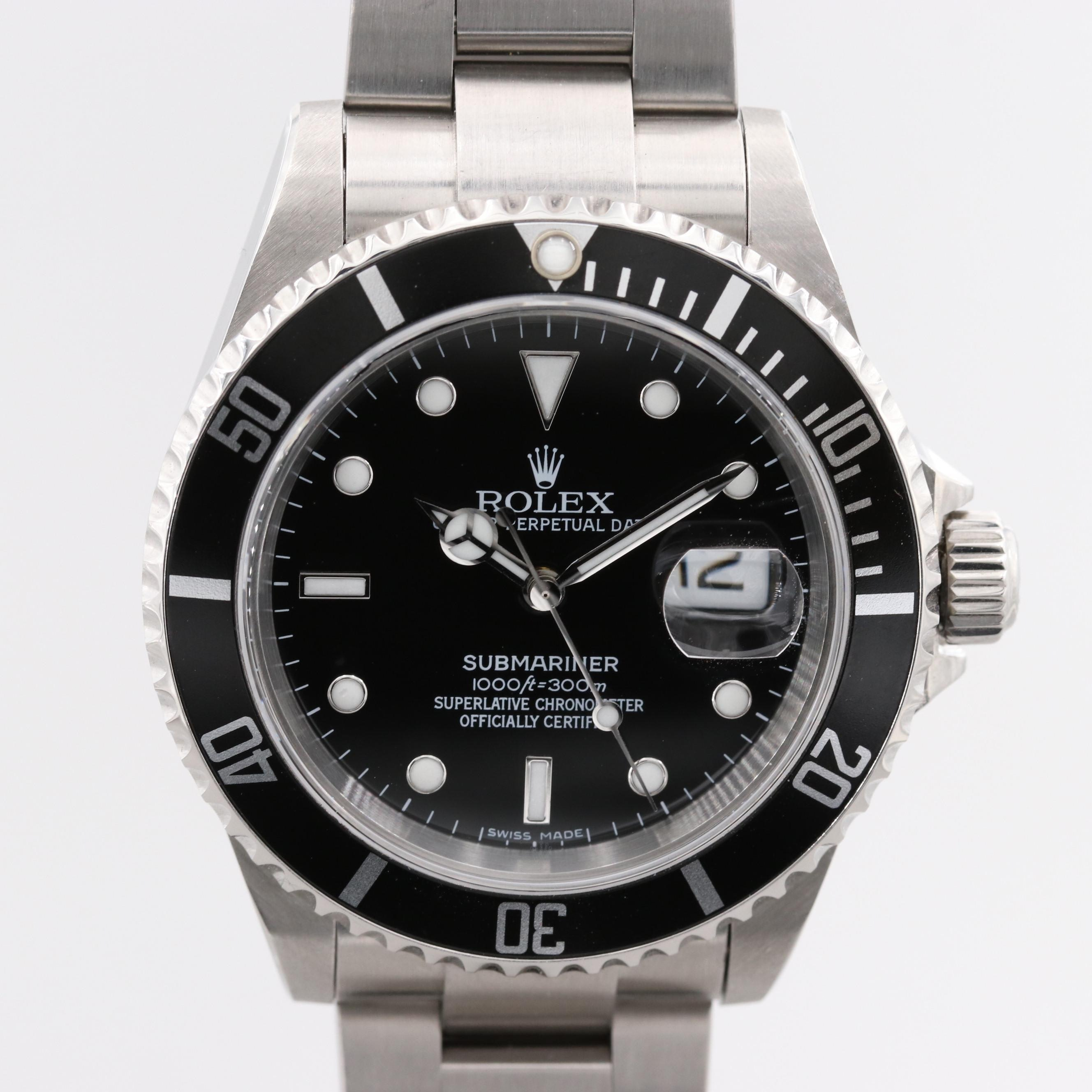 Rolex Submariner Stainless Steel Automatic Wristwatch With Date, Circa 2007