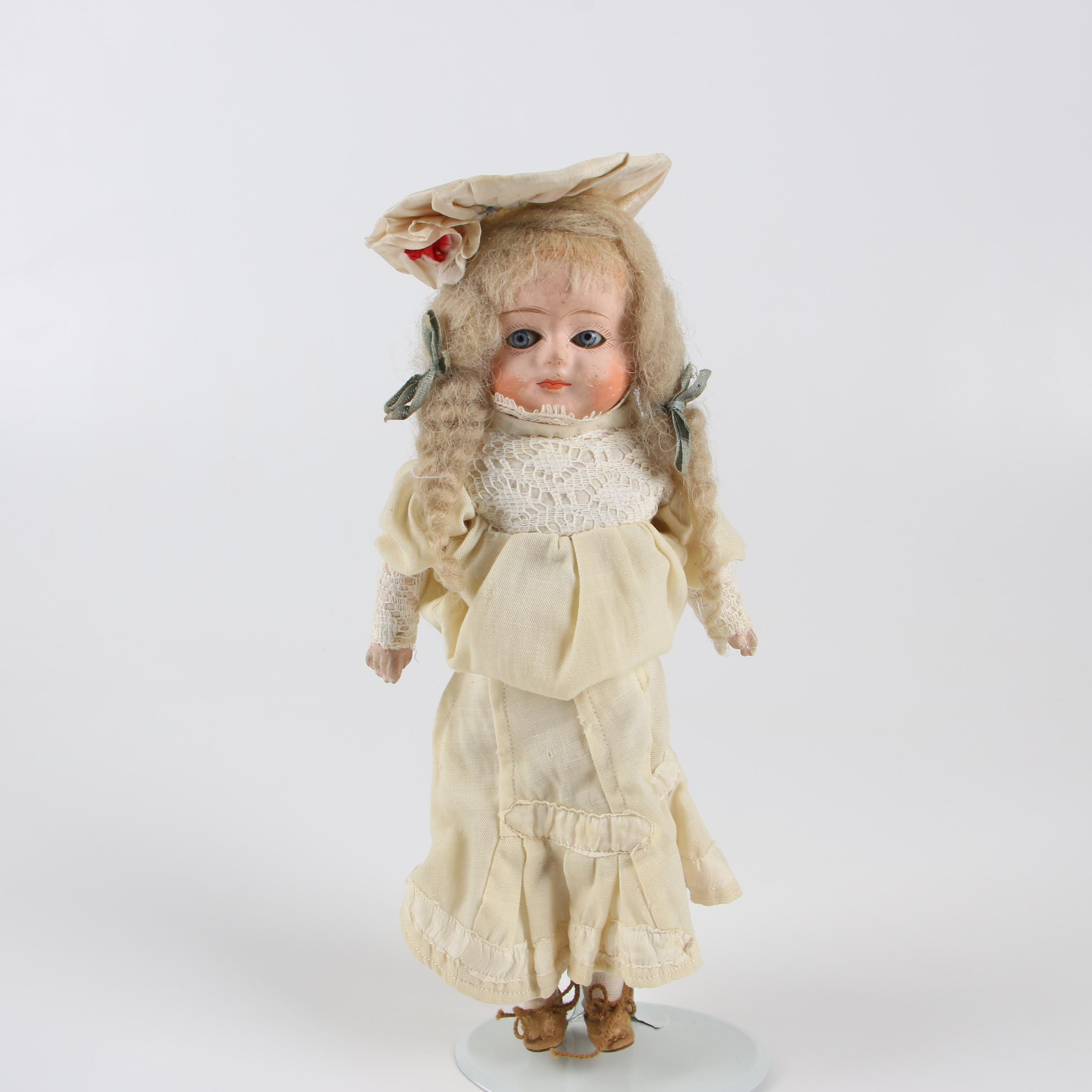 Composition Head Woodchip-Filled Doll, Early 20th Century