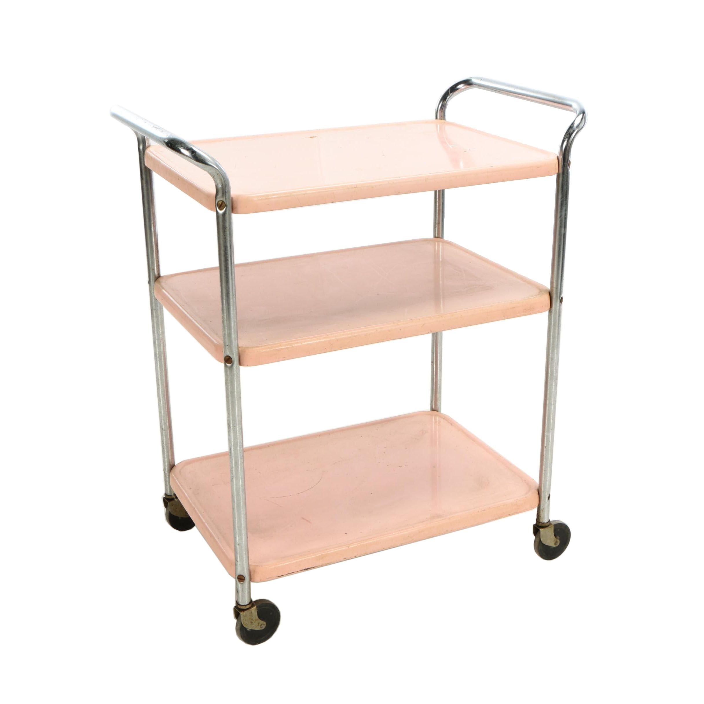 Vintage Pink Utility Cart