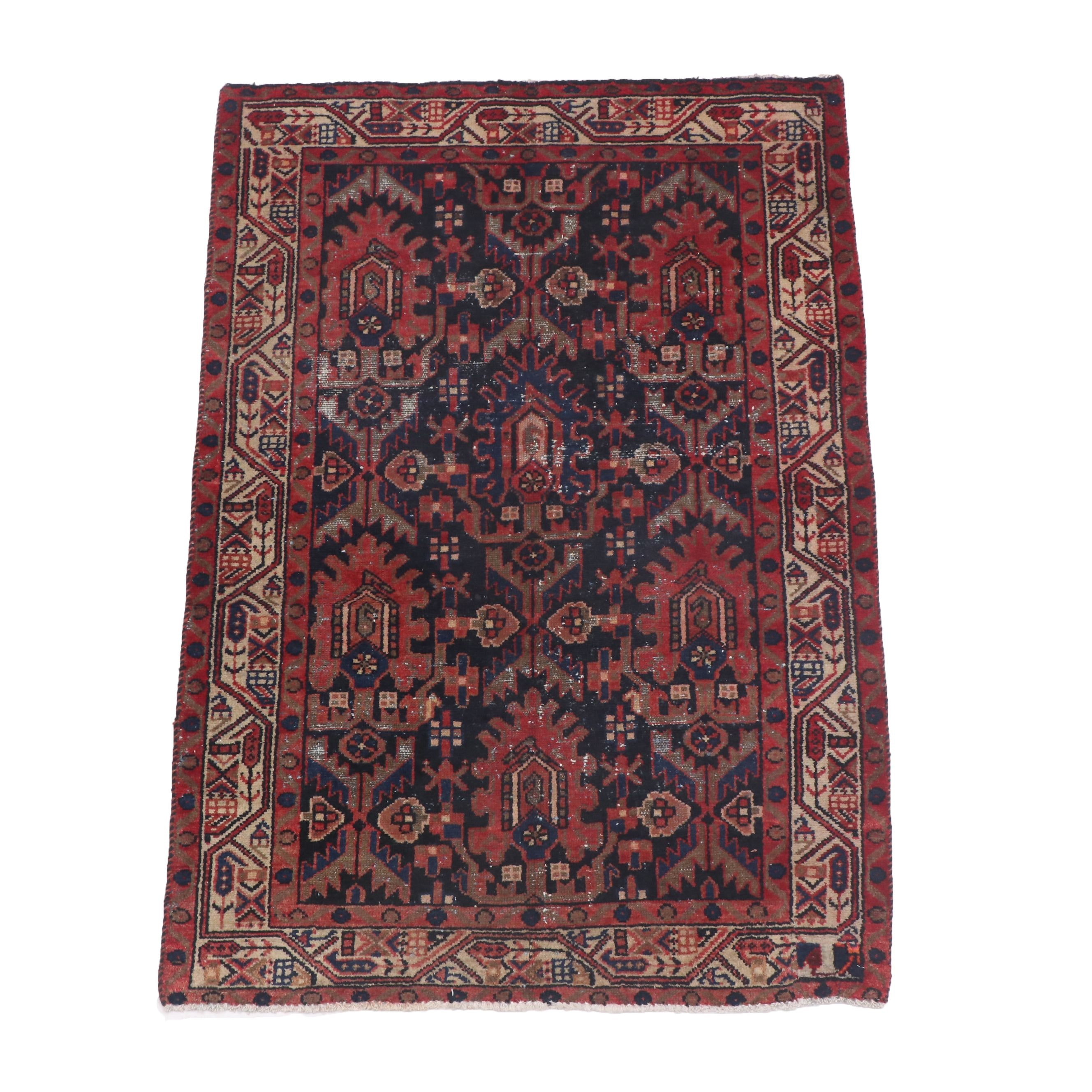 Hand-Knotted Serab Wool Area Rug