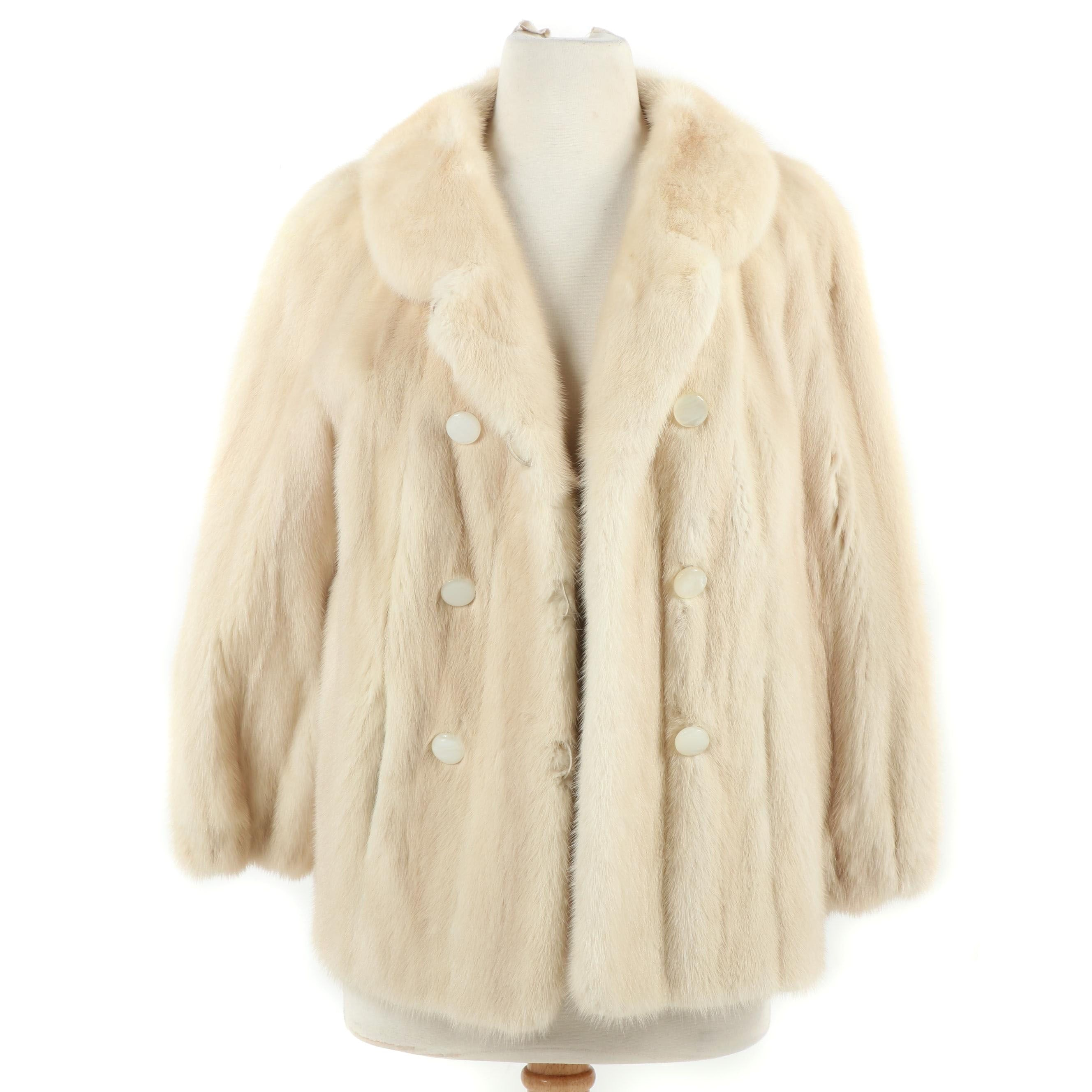 Women's Koslow's Double-Breasted Tourmaline Mink Fur Jacket