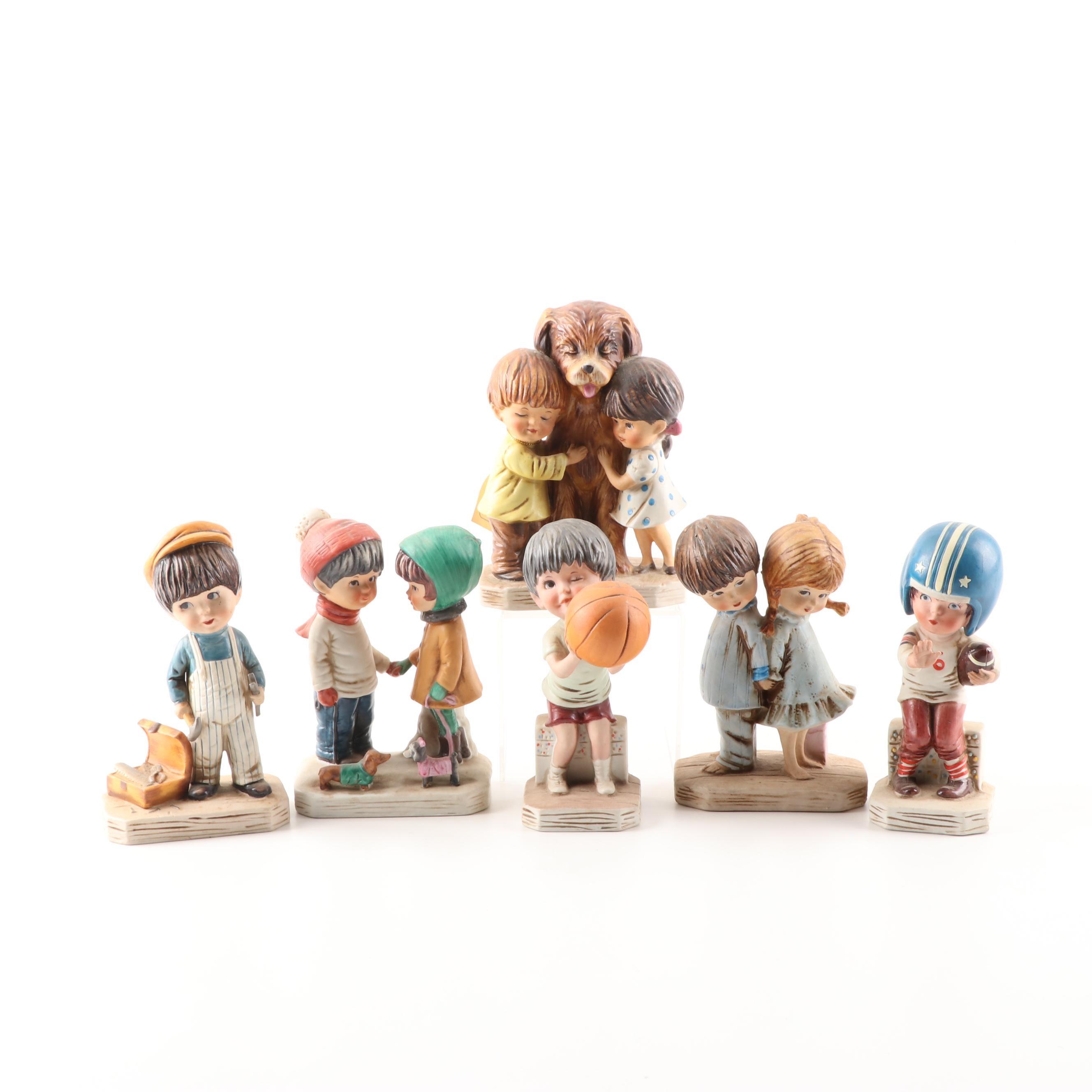 Gorham Porcelain Moppets Figurines, 1970s