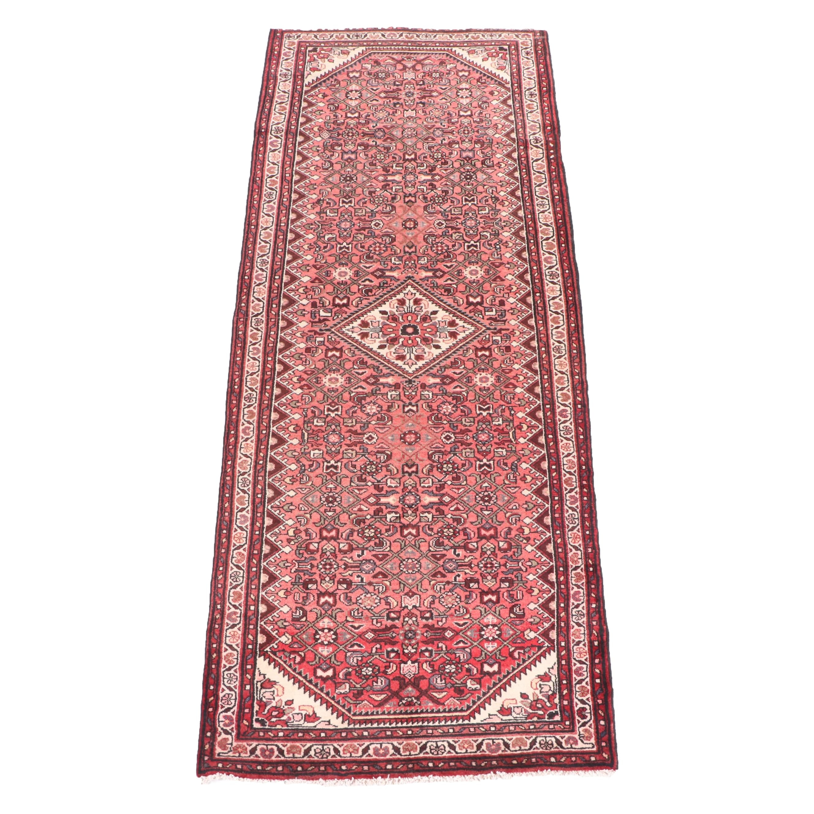 Hand-Knotted Persian Malayer Wool Long Rug