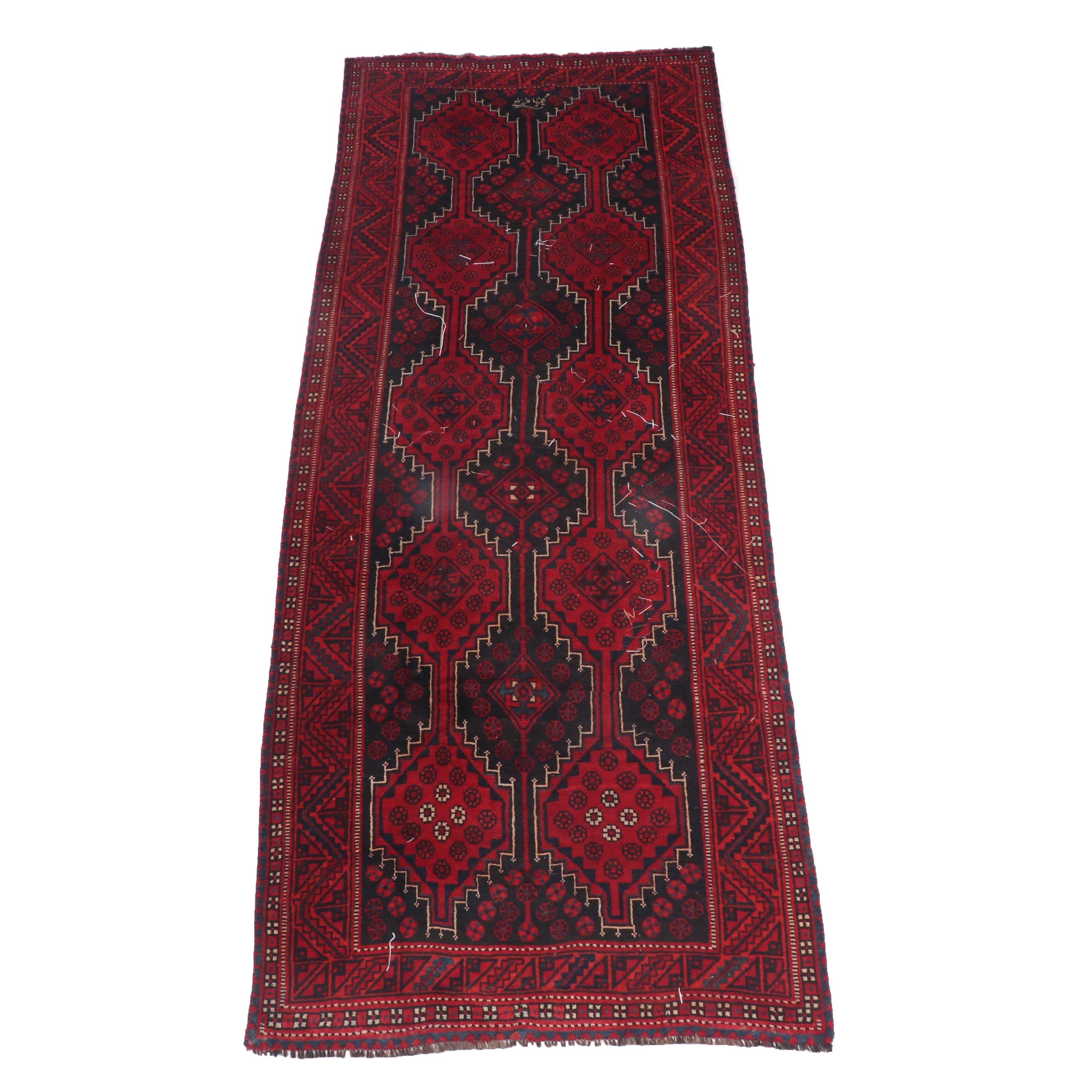 Hand-Knotted Persian Shiraz Wool Long Rug
